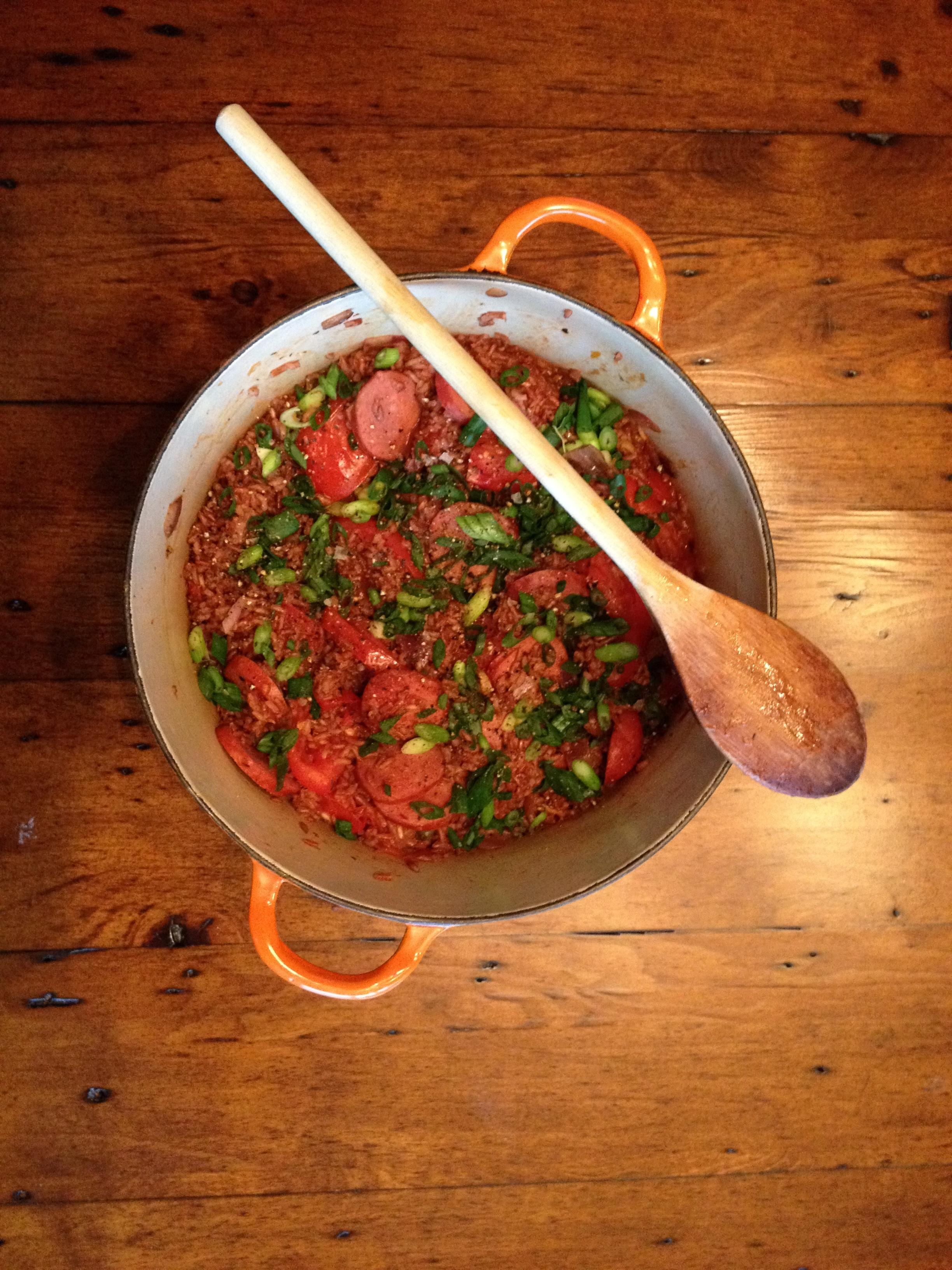 RECIPE: Chorizo Heirloom Rice