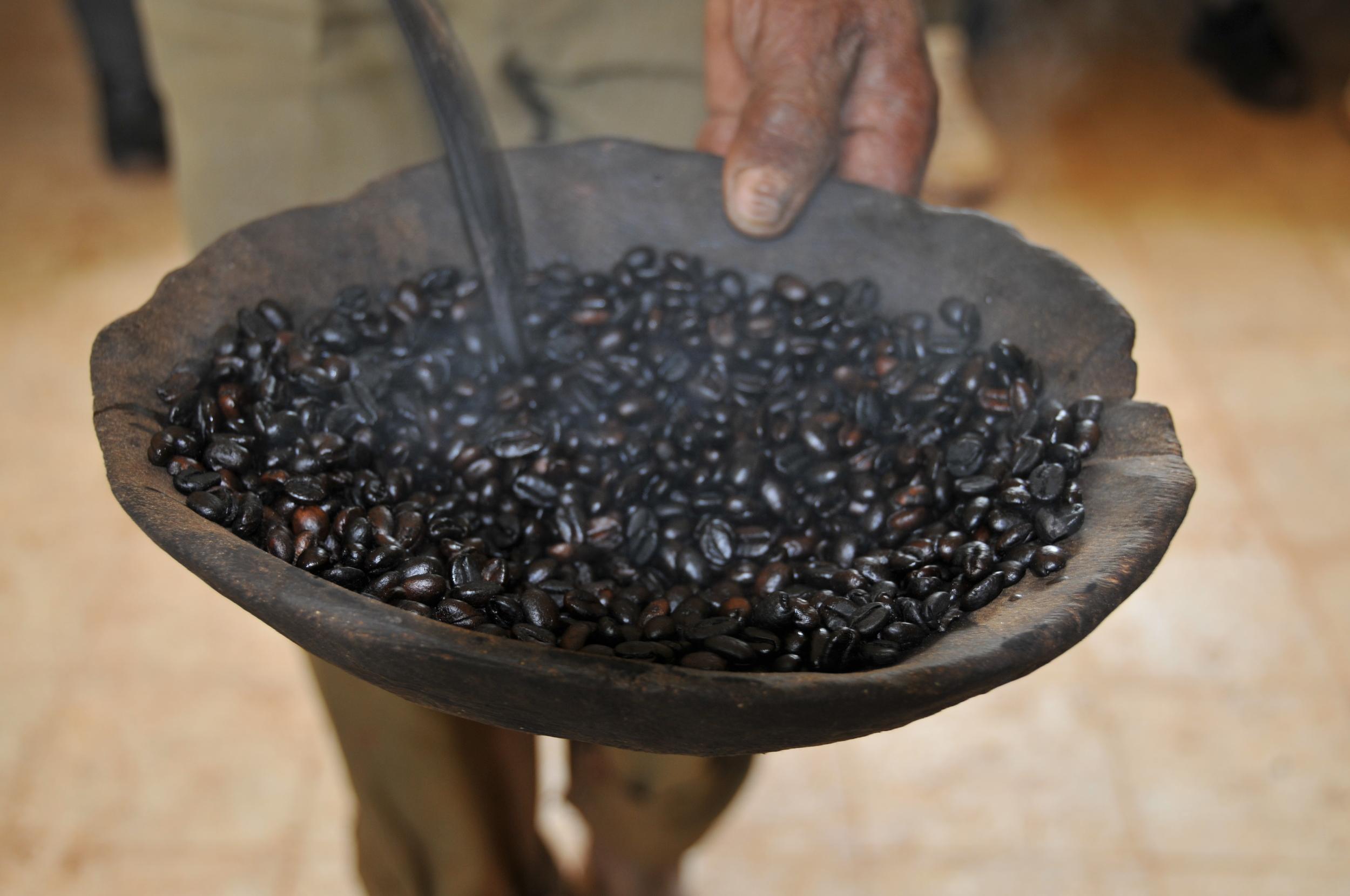 Roasted ethiopia coffee