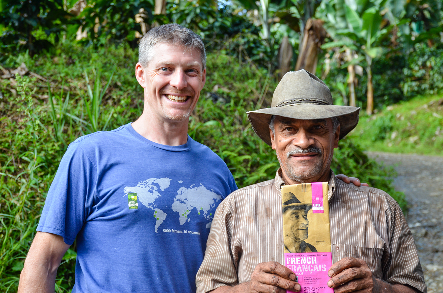 Stacey and Colombian Coffee Farmer