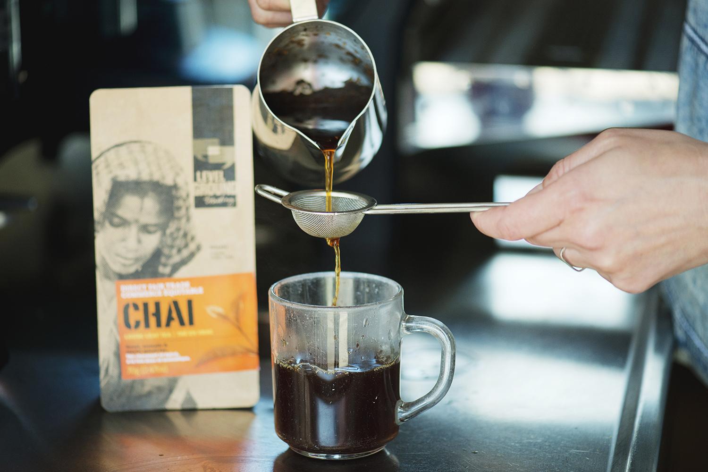 Straining Chai Tea