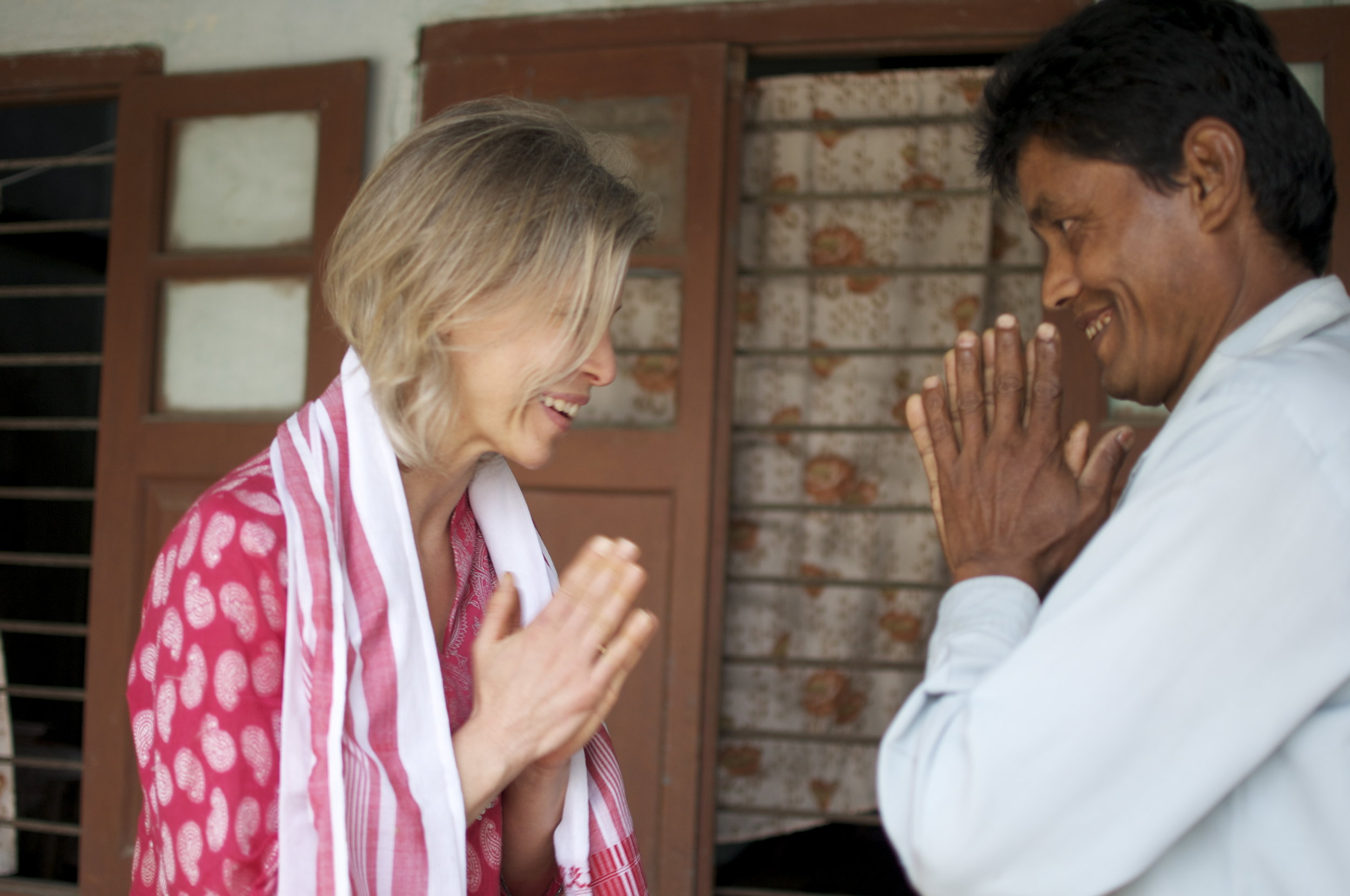 Laurie (co-owner) and Gobin meet in Assam in 2012.
