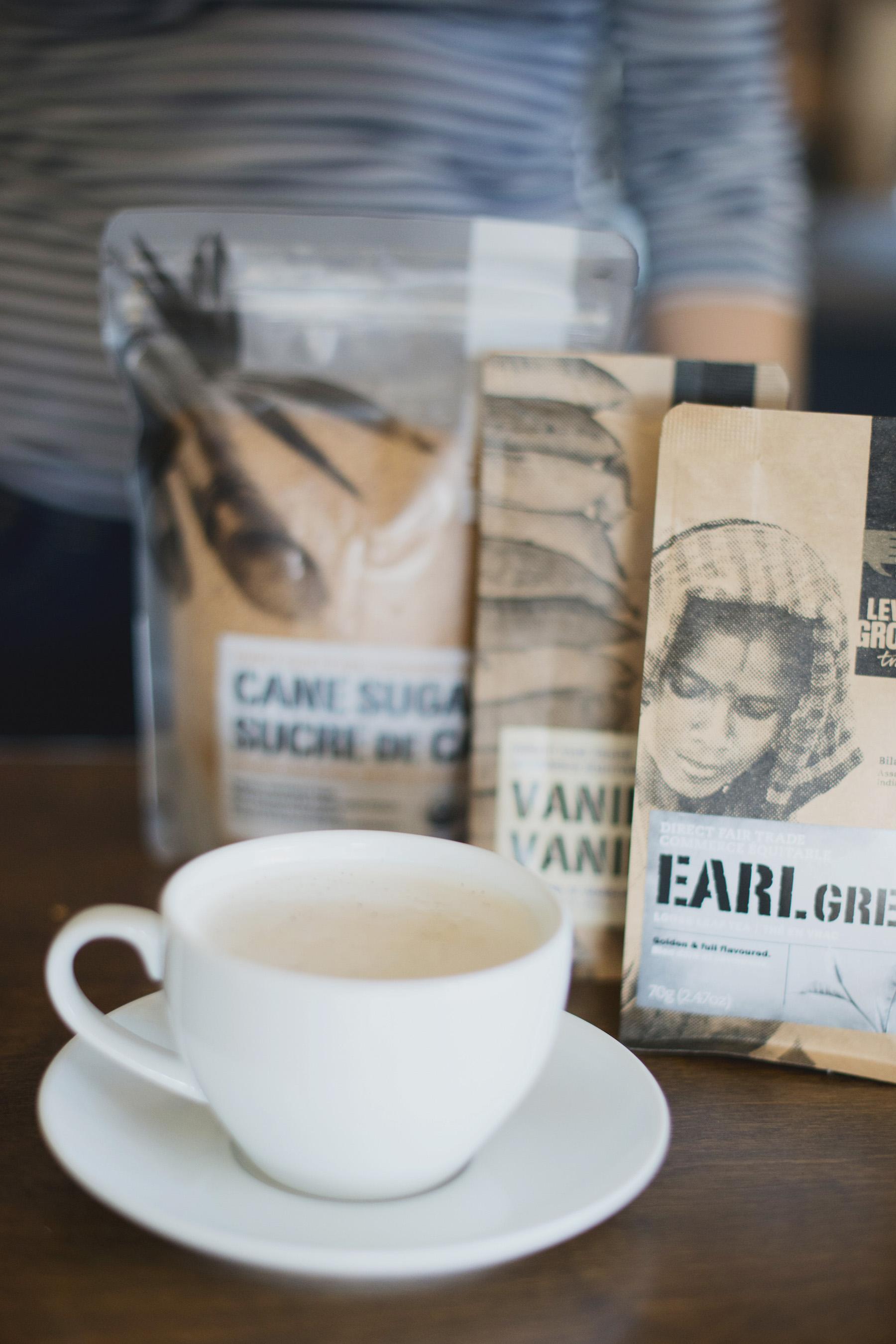 RECIPE: How to make a london fog using earl grey tea, vanilla beans, and cane sugar.