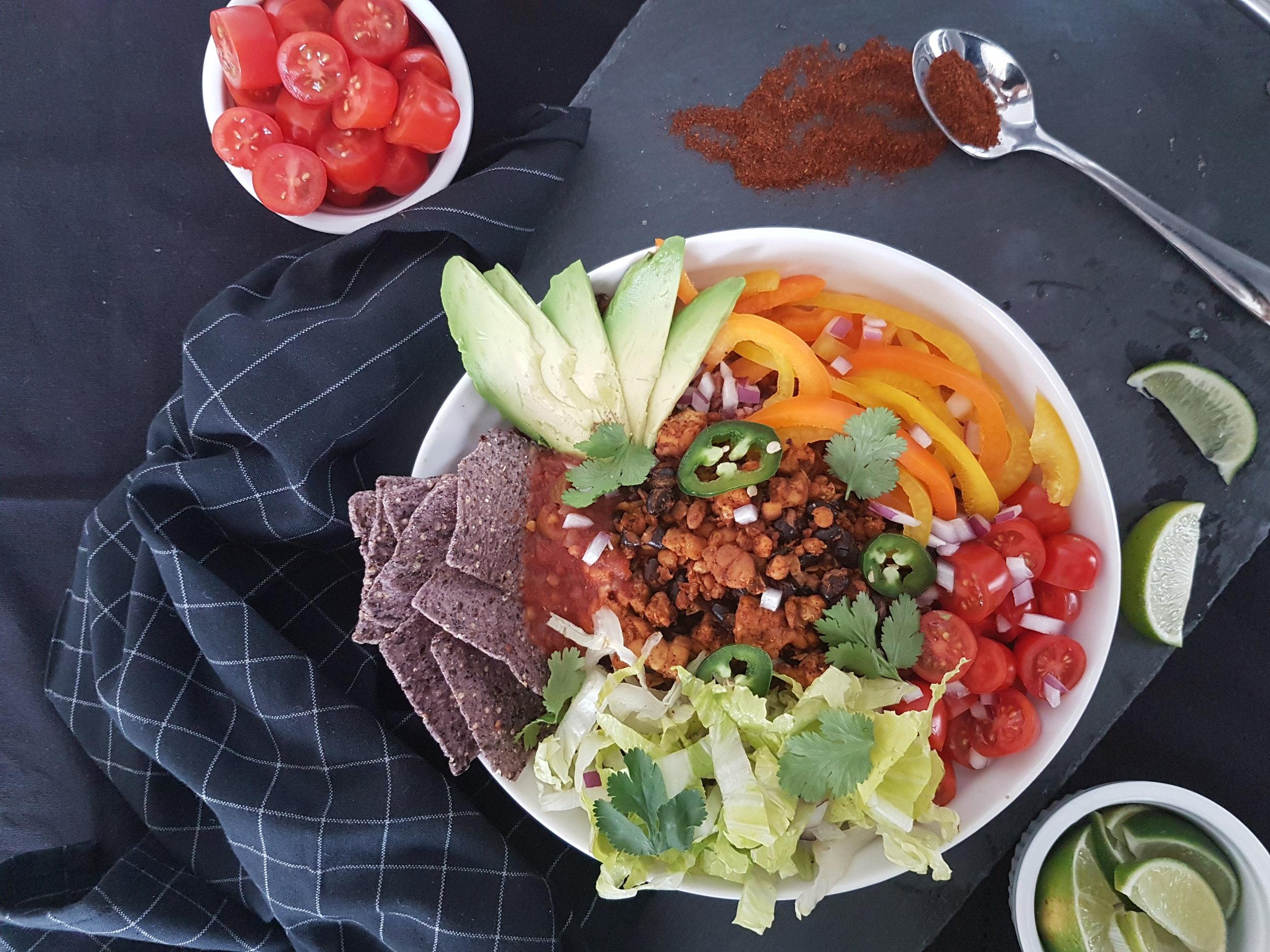 Tempeh Taco Bowl Recipe