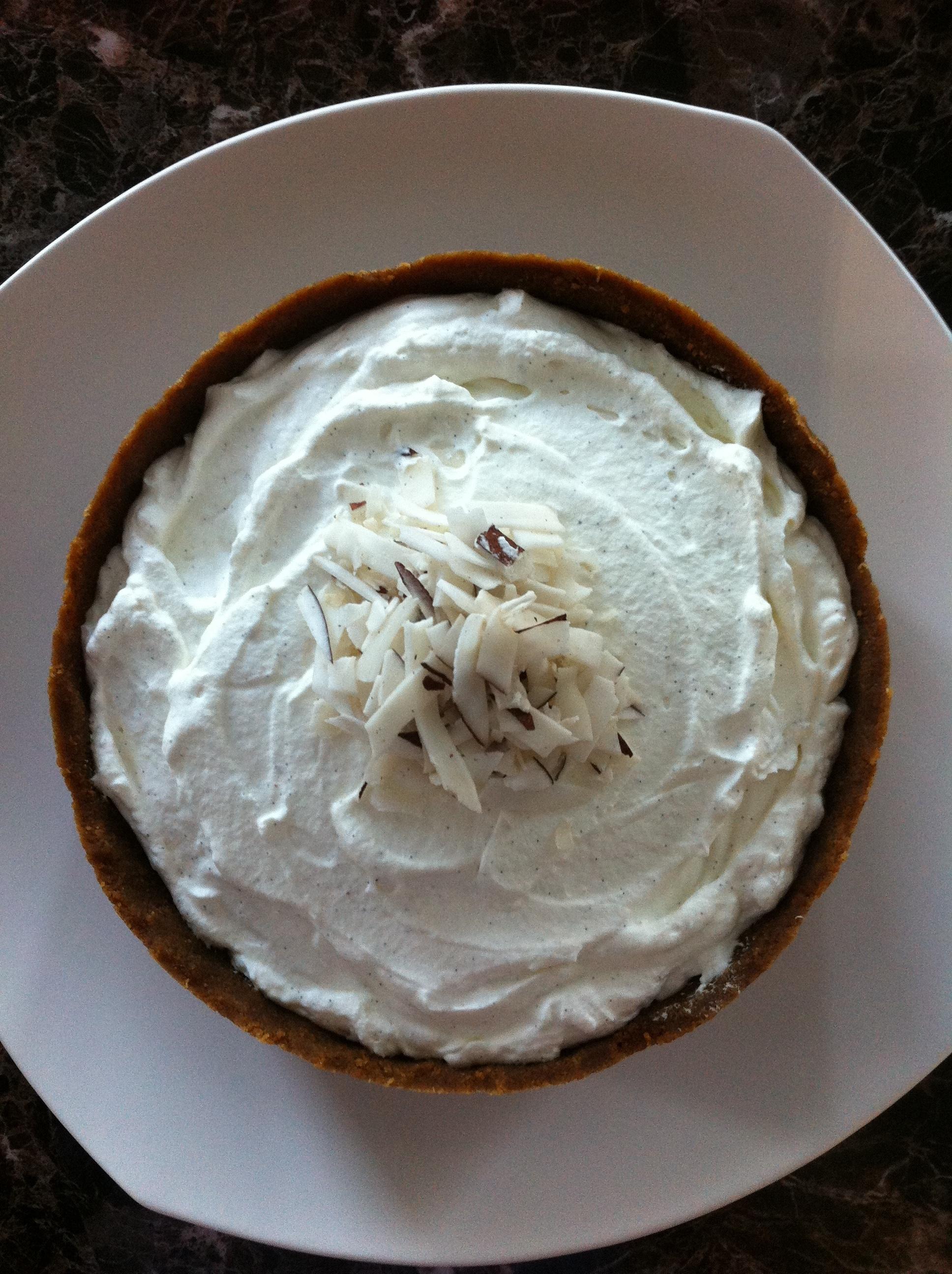 No Bake Coconut Cream Pie with Fair Trade Ingredients