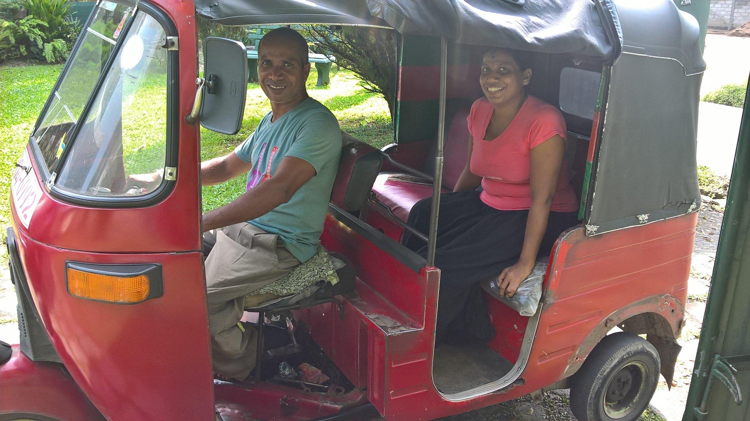 Menaka and her husband, Weerasinghe.