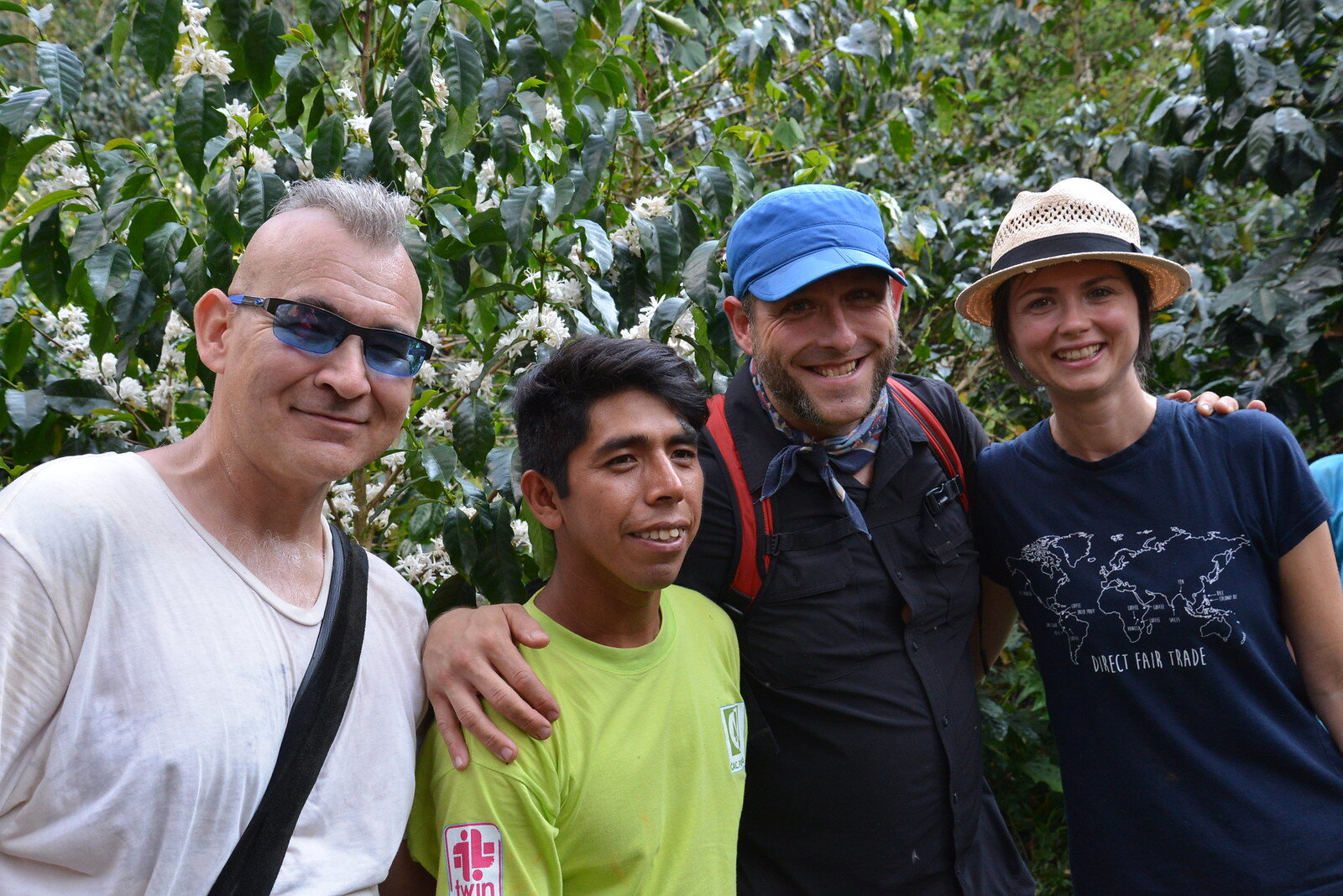 Level Grounders visiting coffee farmers in Peru.
