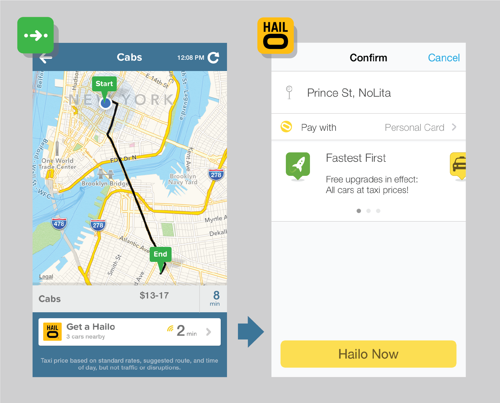 (Web, social, blog) image explaining new CityMapper app integration