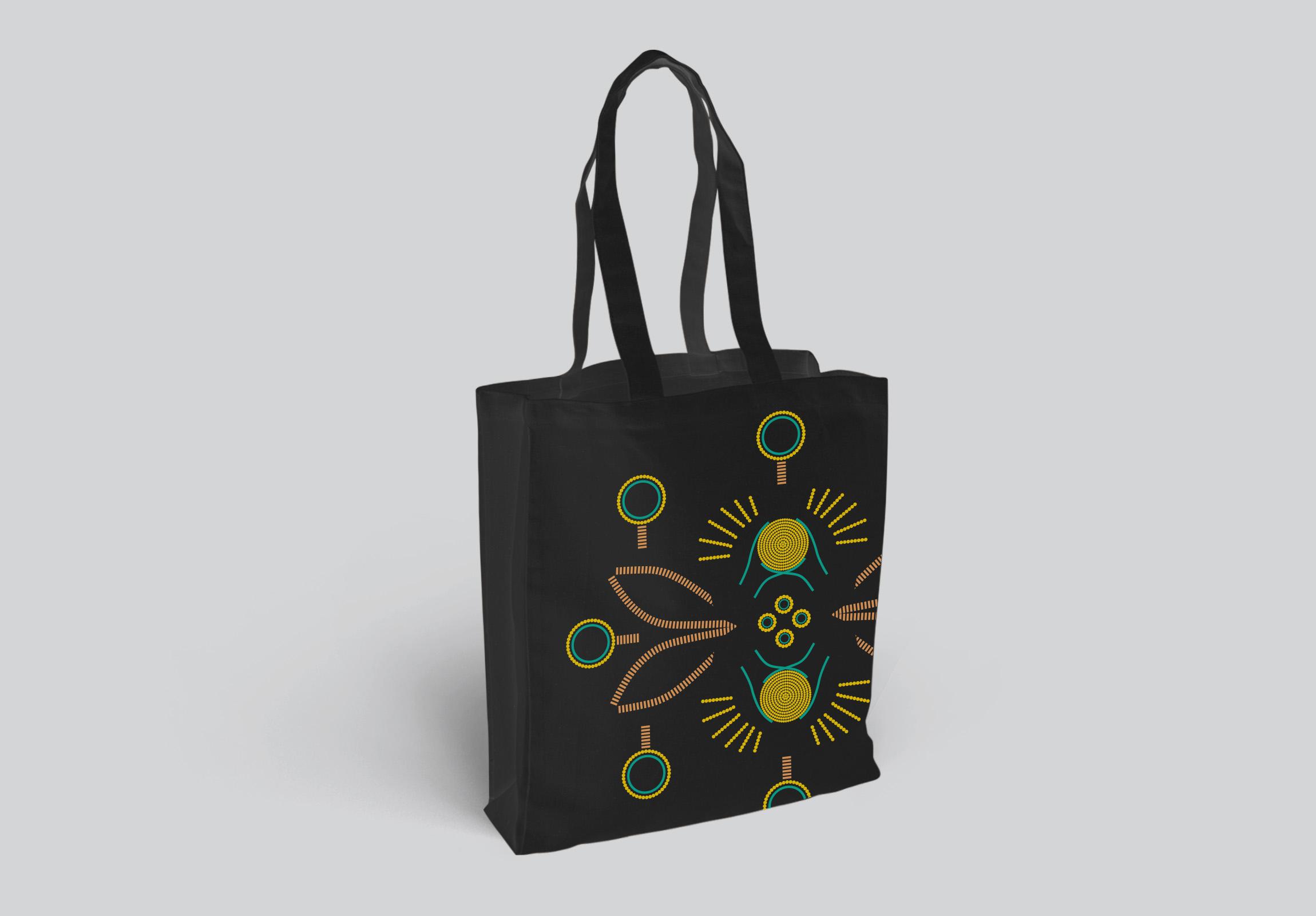 Golden Bees Bag