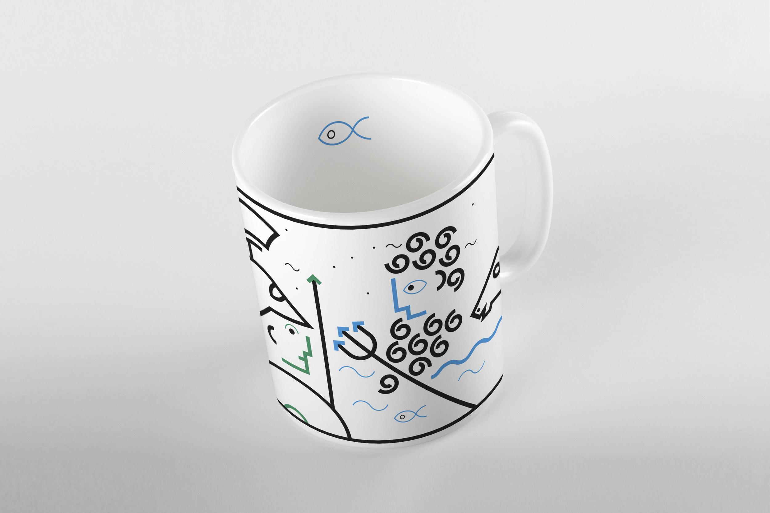 Athena and Poseidon mug