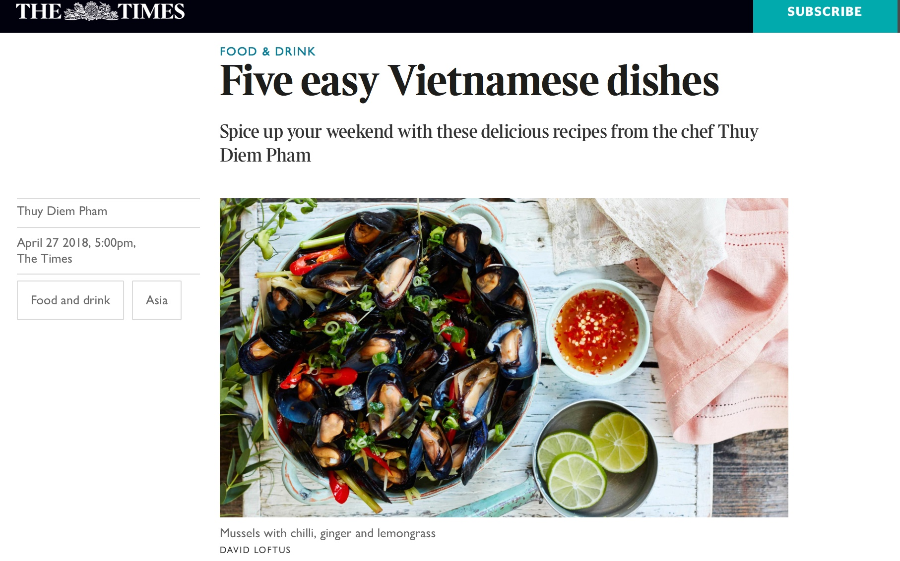 A handful of our recipes from the LVK Cookbook, now featured by The Times. online, not too late to cook up some of these yummy dishes!   https://www.thetimes.co.uk/past-six-days/2018-04-28/weekend/five-easy-vietnamese-dishes-l9tfmrtbx