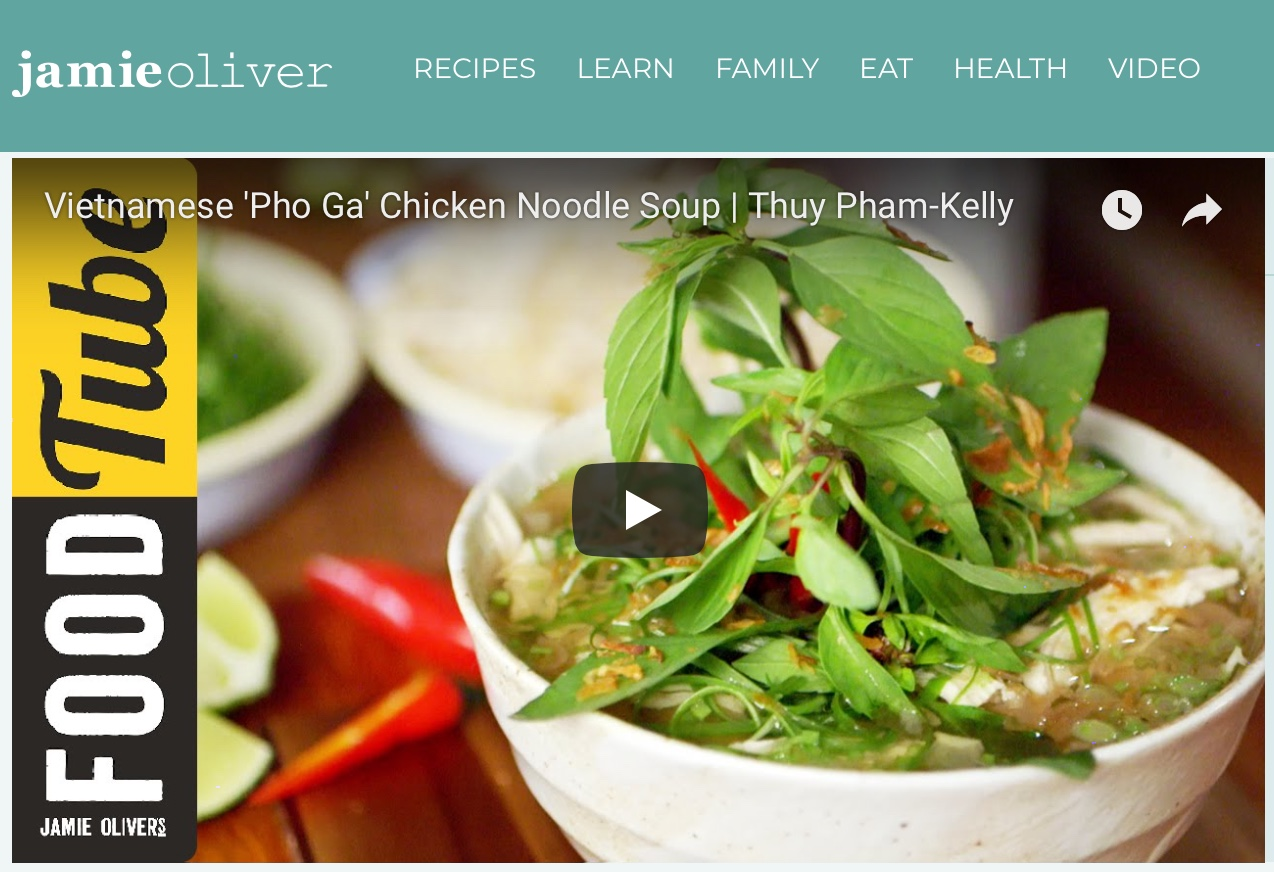 We're feature on Jamie Oliver's Food Tube! Head over now to watch Thuy cook up LVK classic, chicken pho.  https://www.justonecookbook.com/travel/london-travel-guide-day-6/