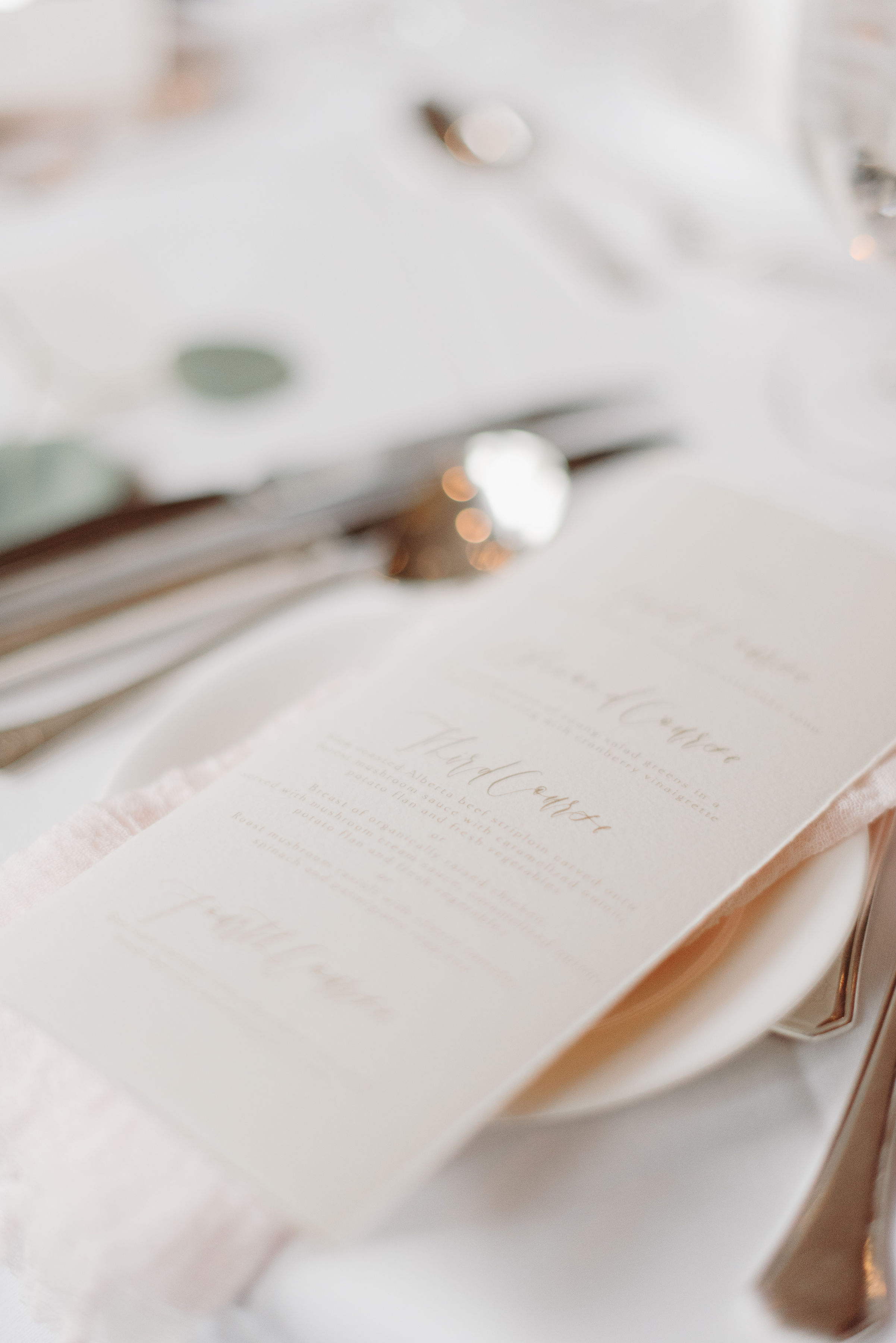 Art and Alexander Wedding Menu