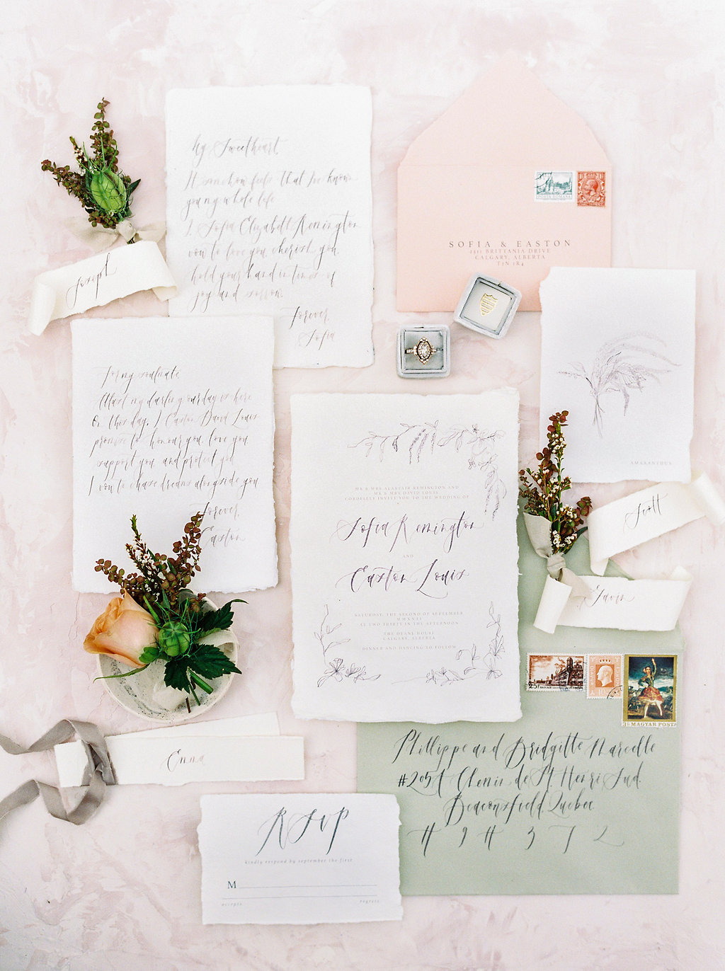 Beautiful Blooms and Sweet Tarts - FEATURED ON STYLE ME PRETTY / WINTER 2018Design + Styling: Paperdoll + Photography: Justine Milton + Stationery: Art + Alexander + Florals: Fern & Frond + Dress: Tatyana Merenyuk via Pearl & Dot + Hair and Makeup: SimplyME Canmore + Venue: Deane House