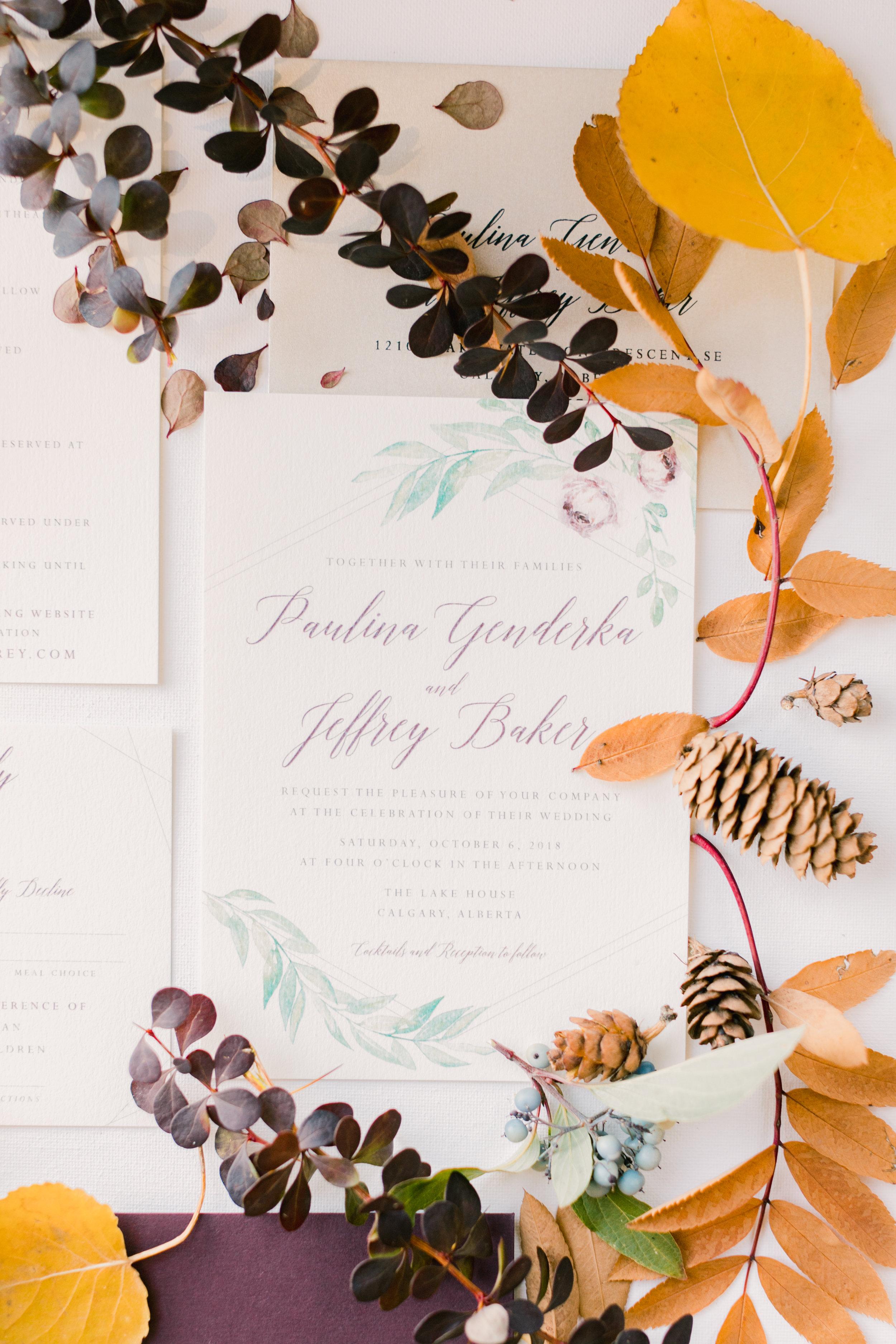 Fall Wedding Stationery Inspiration