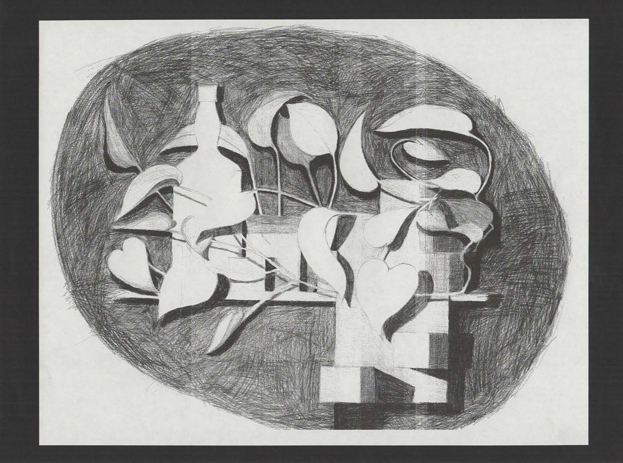 Pencil on paper.