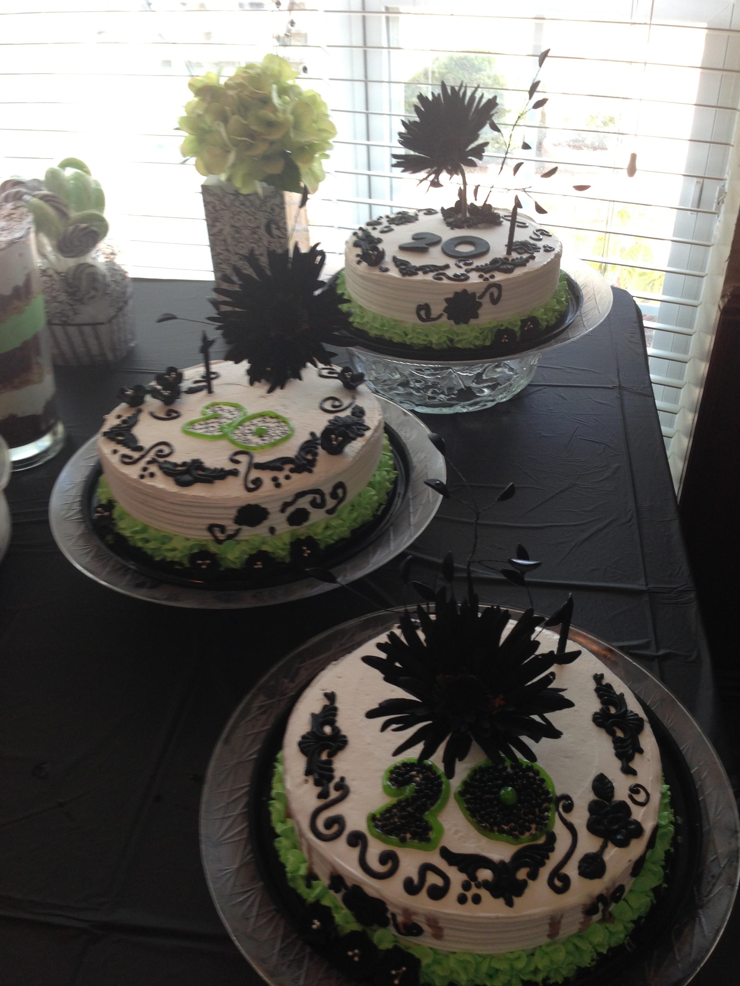 60th birthday ice-cream cakes.