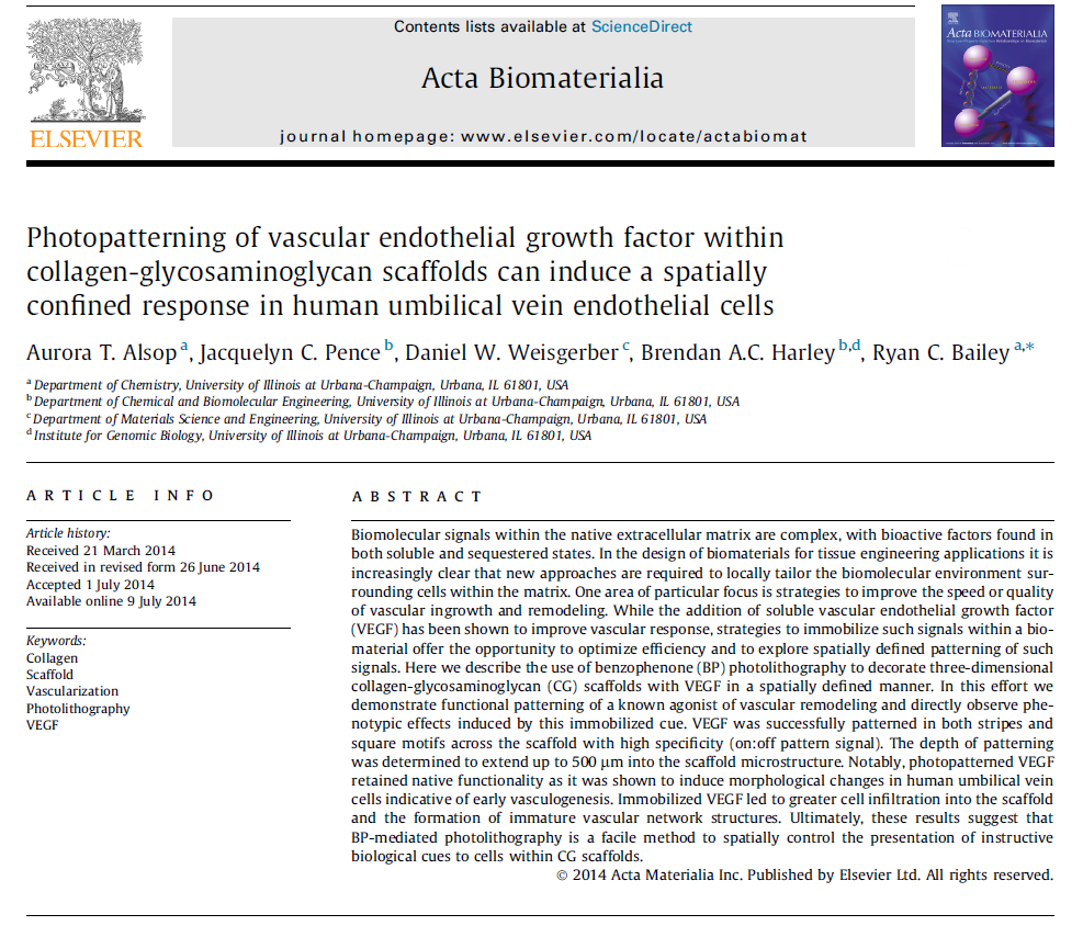 Alsop, A.T., et. al. Acta Biomaterialia ,  2014