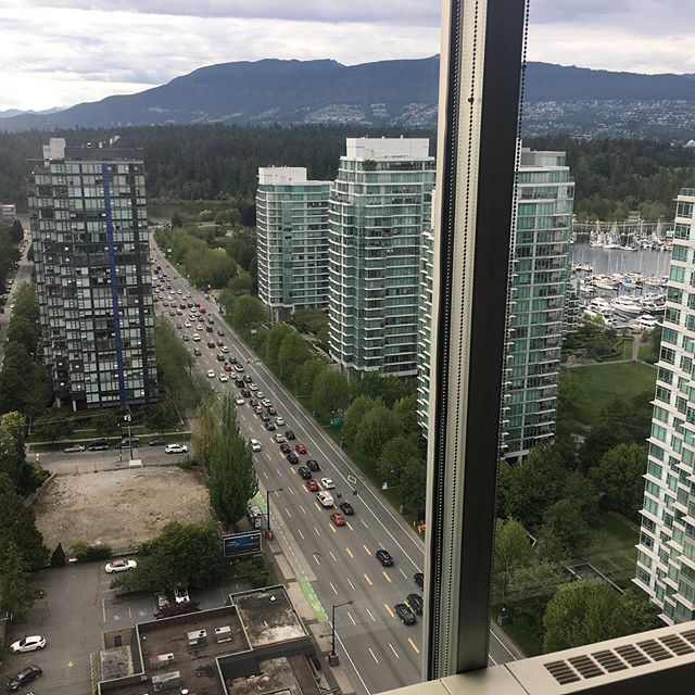 That White Spot property in the bottom left sold for $245 million in 2017. It's zoned for almost 400,00 square feet of residential space and is steps away from Stanley Park. Photo taken from @petercardew 's 1500 W Georgia Street project, previously titled Crown Life Plaza and built in 1978.