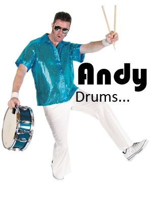 Andrew has been a staple of the Adelaide music scene since the late 80's having a reputation as one of the most reliable and versatile drummers in town.  Drumming and percussion has been part of Andrew's life as long as he can remember with one of his favourite stories being when he was 7 years old, his neighbours called the police because they were sick of listening to him play along to his favourite album:KISS Alive 2! The police felt sorry when he cried to his Mum in front of 2 big policemen on the doorstep.  As well as being a founding member of Fizzy Pop, Andy appears with other groups and bands from time to time.