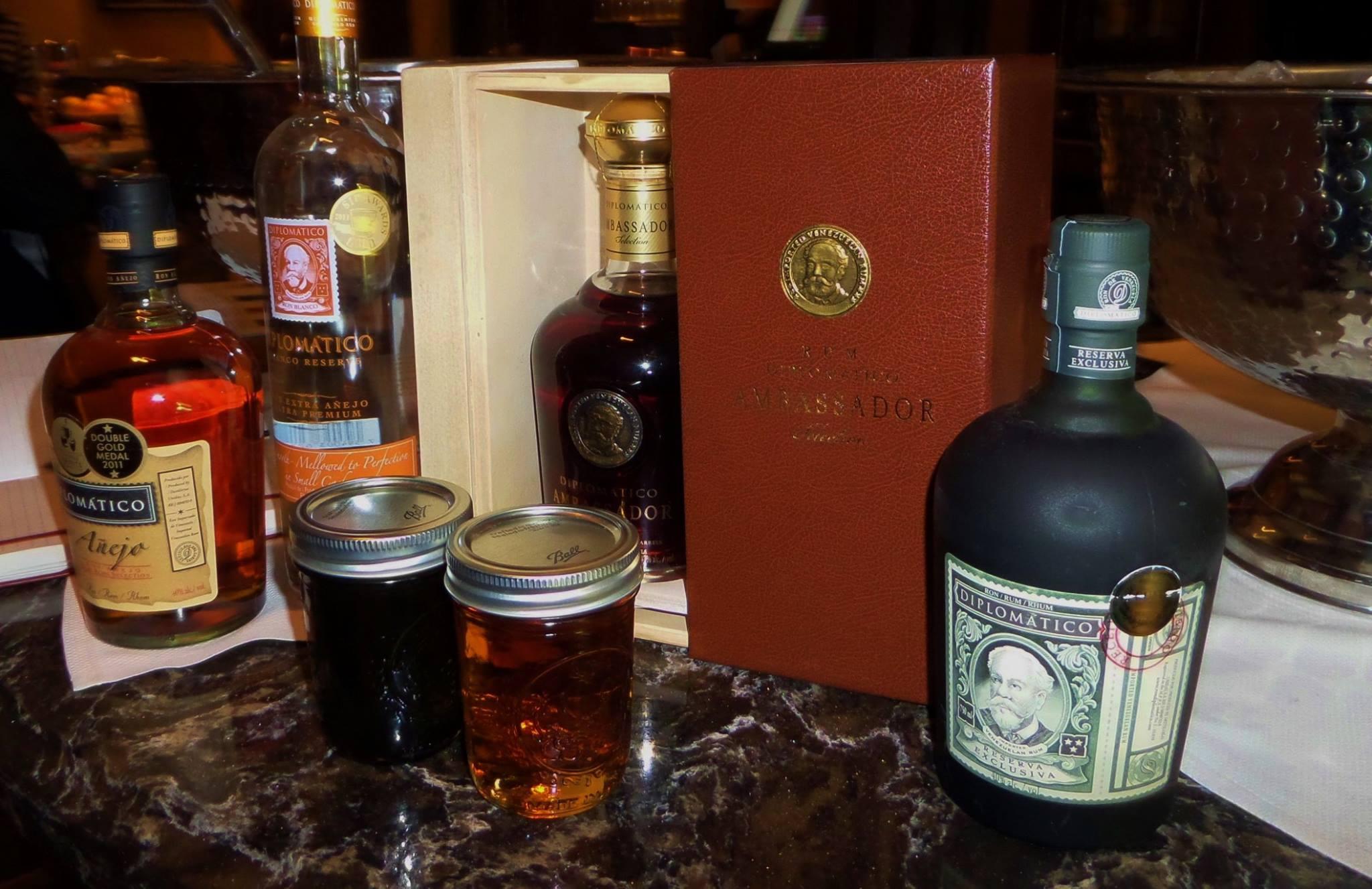 Diplomático Rum Blanco, Añejo, Reserva Exclusiva, and Ambassador