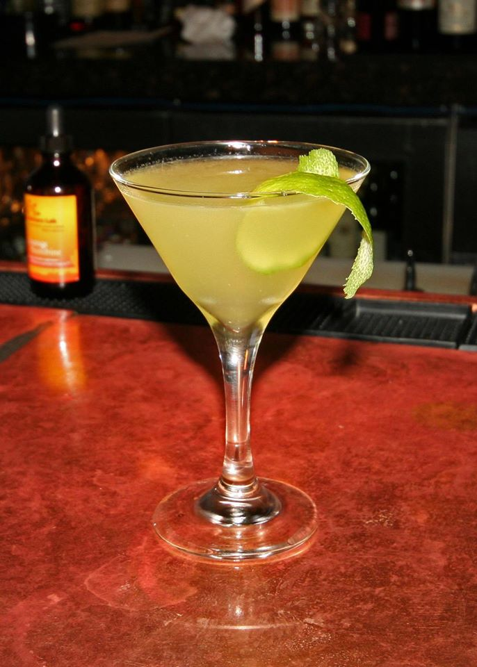Yellowbird with Banks rum, Galliano, house orange liqueur, and lime
