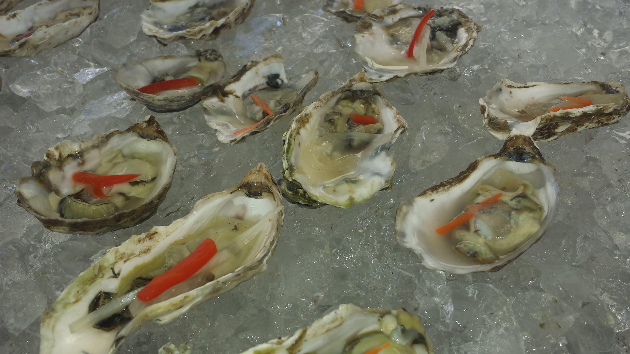 The Breadfruit's Kumamoto oysters withe escovitch