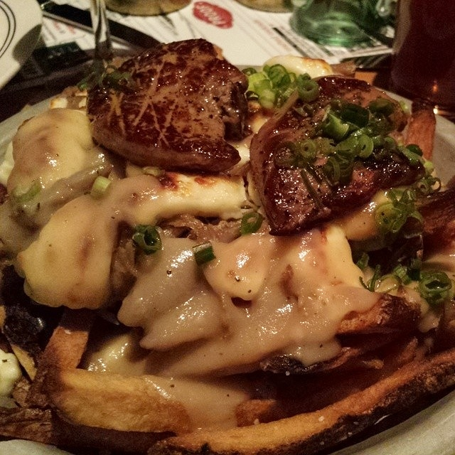 Duck poutine with foie gras at Proof