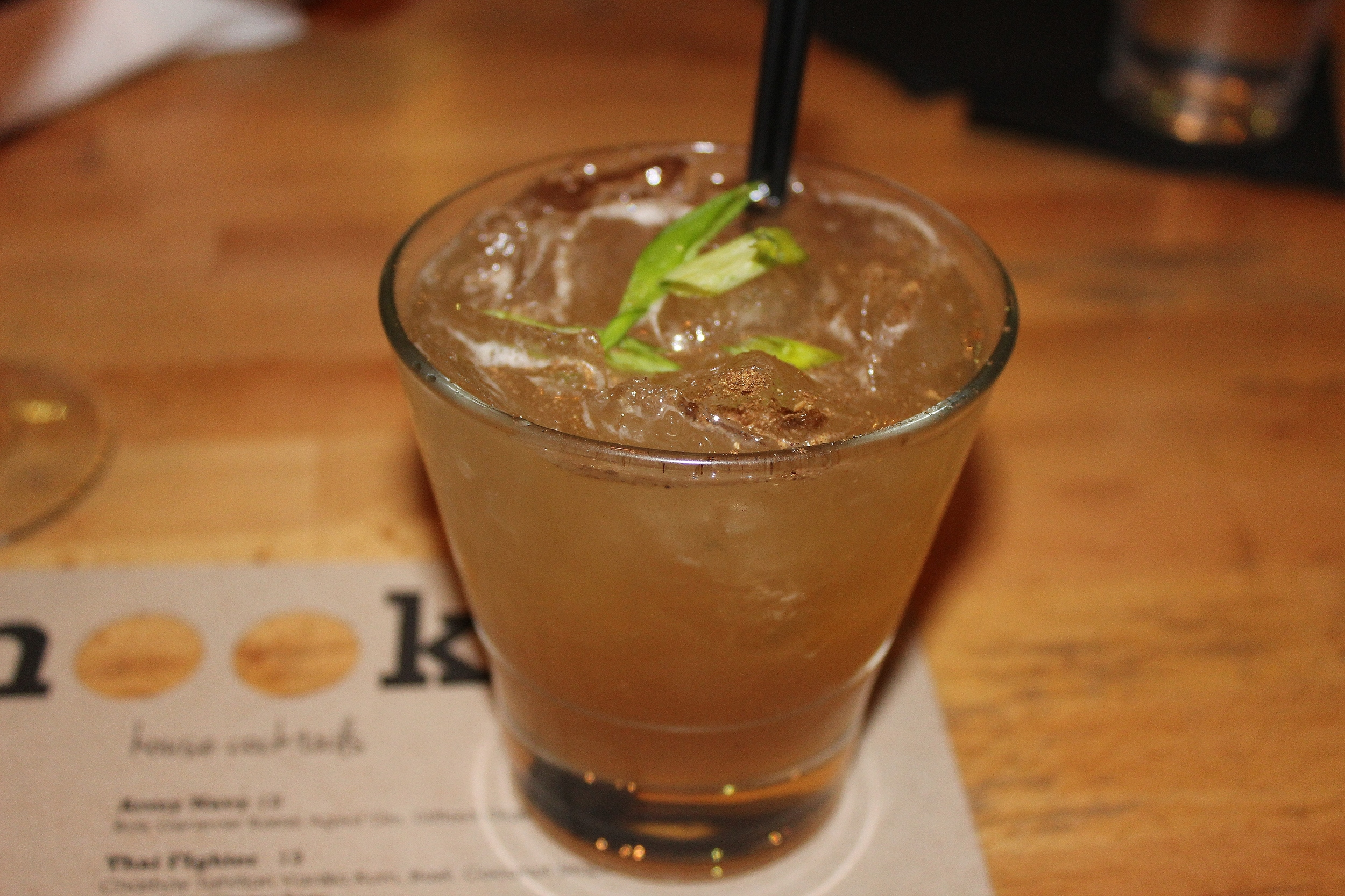 Peking Duck (duck fat-infused Booker's Bourbon with Canton Ginger, five-spice simple syrup, lemon and lime)