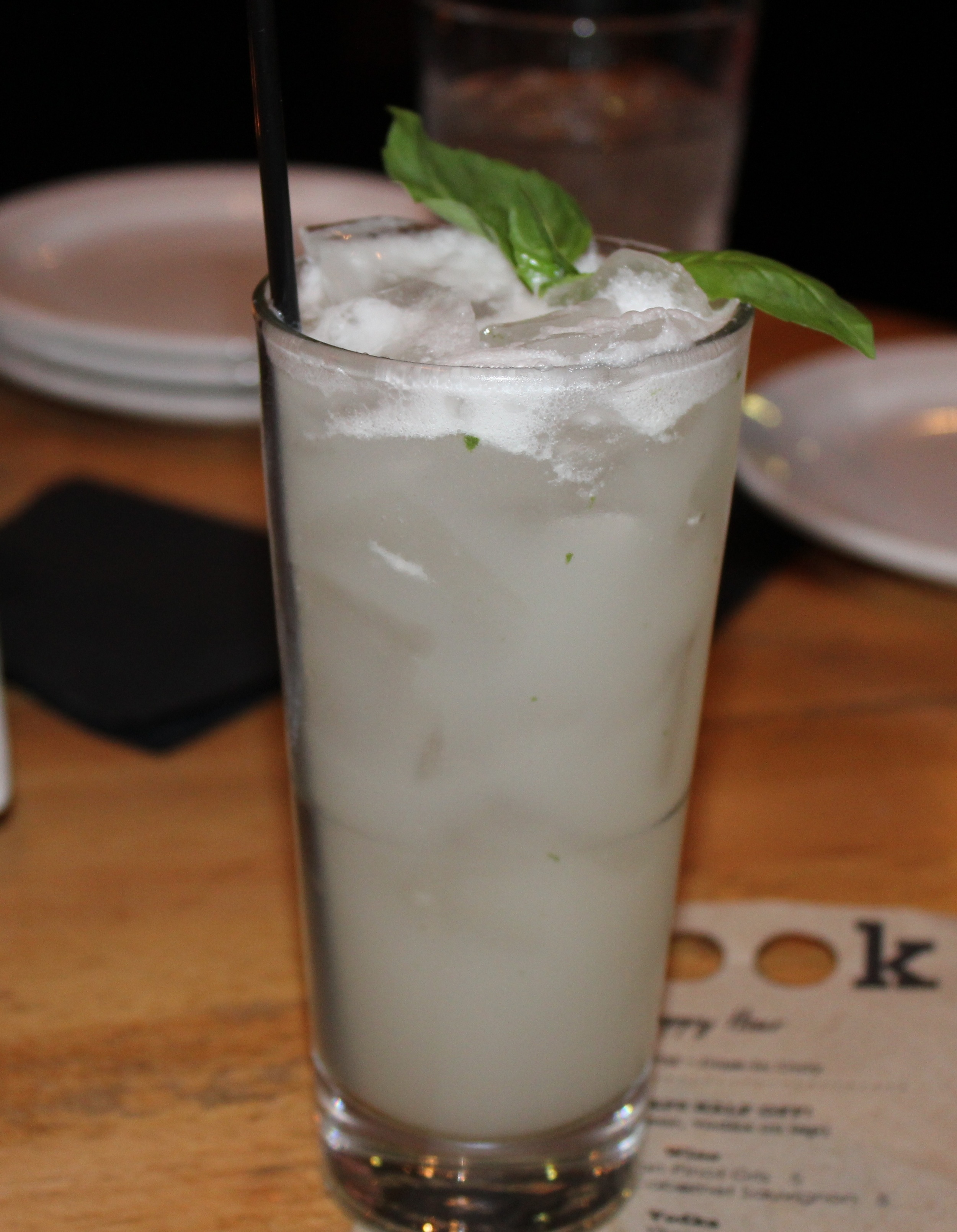 Thai Fighter (Charbay Tahitian Vanilla Rum, coconut simple syrup, Fever-Tree ginger beer, and lime)