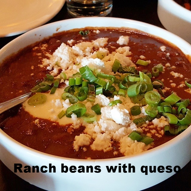 Ranch beans with queso fresco