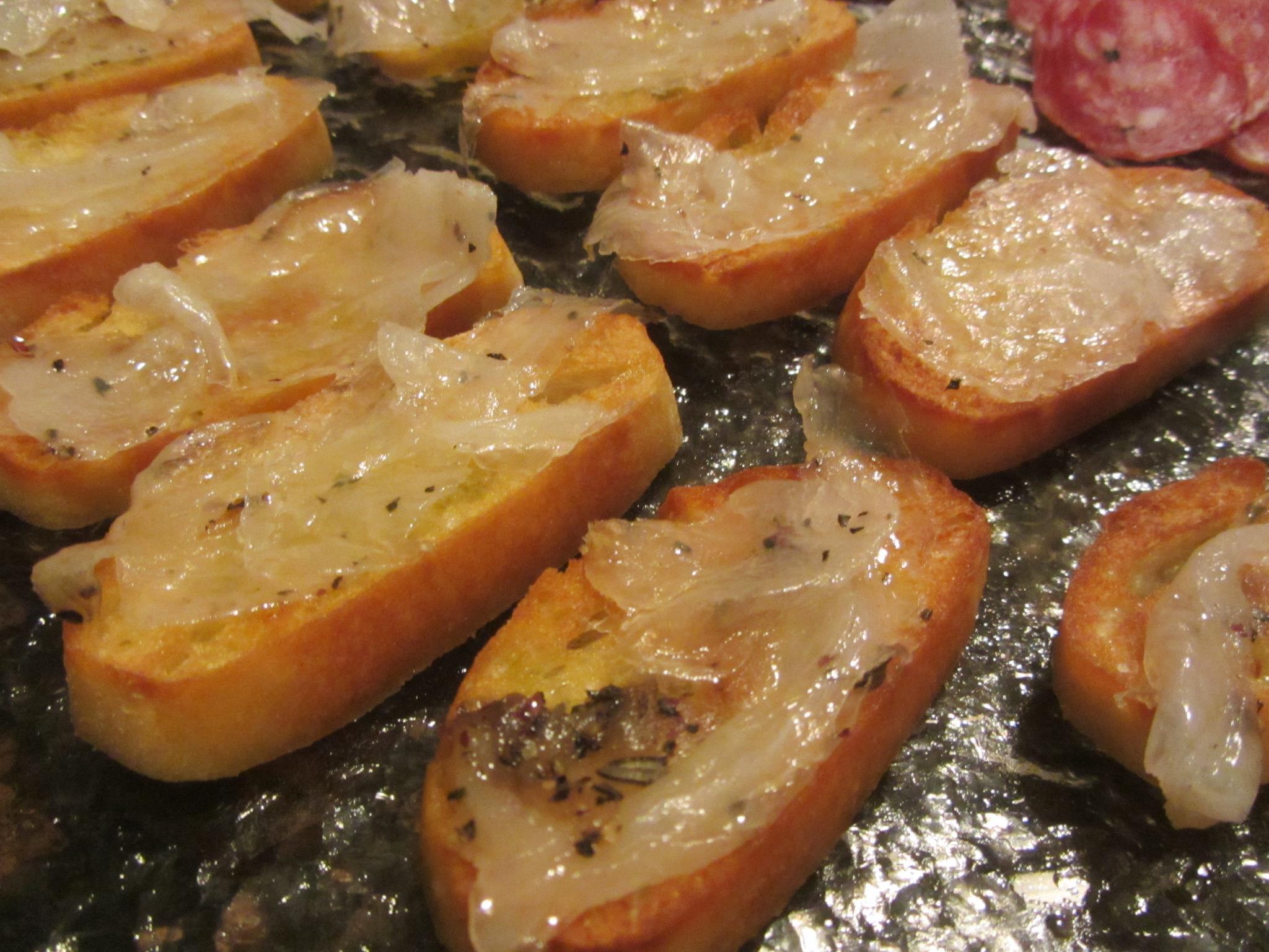 Salumeria Biellese lardo on warm crostini