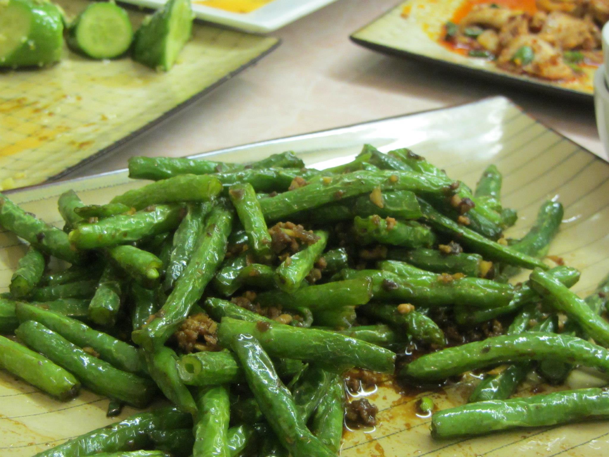 Sichuan green beans/gan bian si ji dou