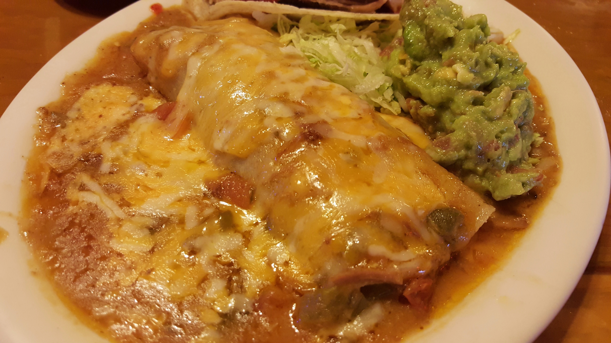 Machaca enchilada with chili verde
