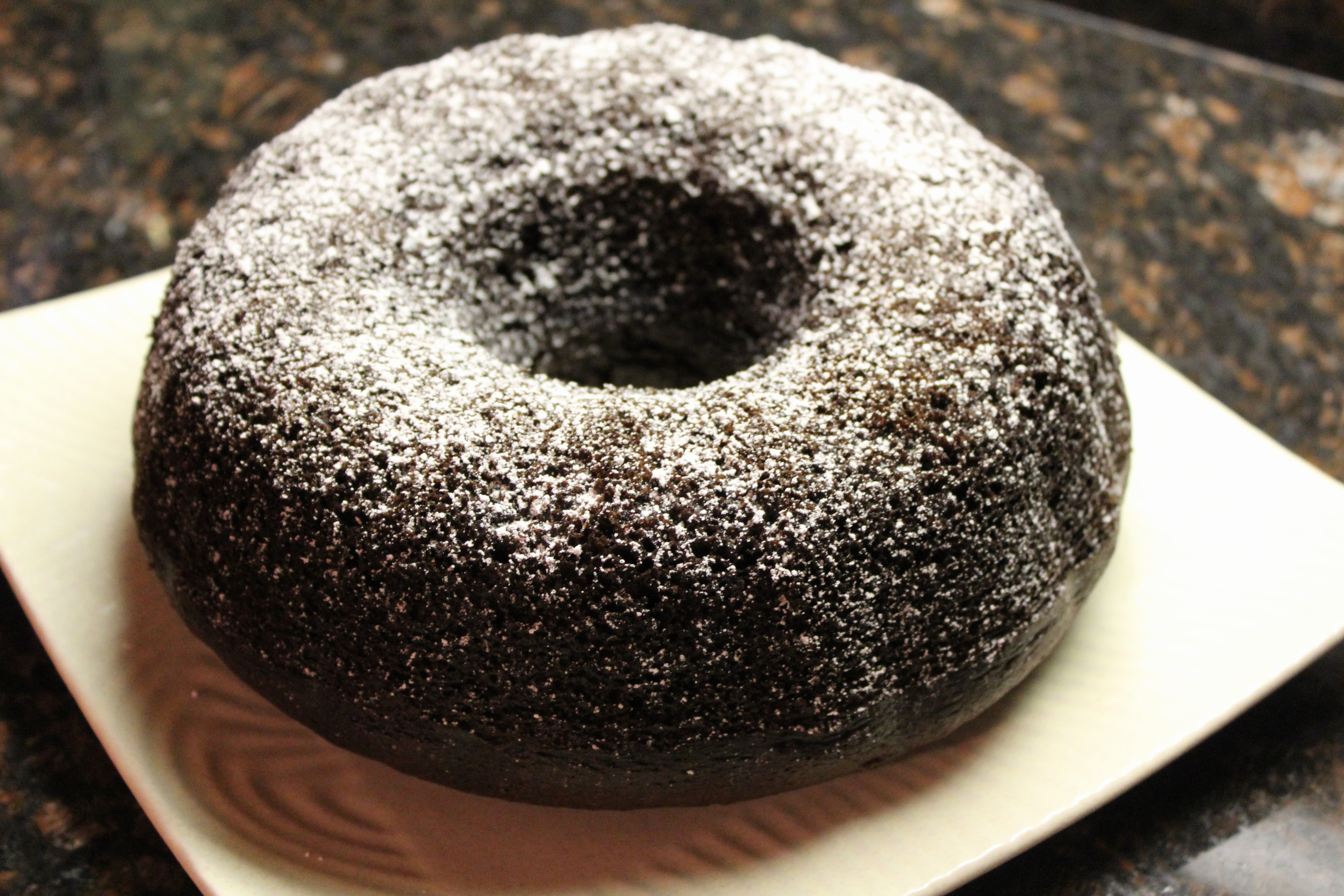 Chocolate-Kahlua bundt cake