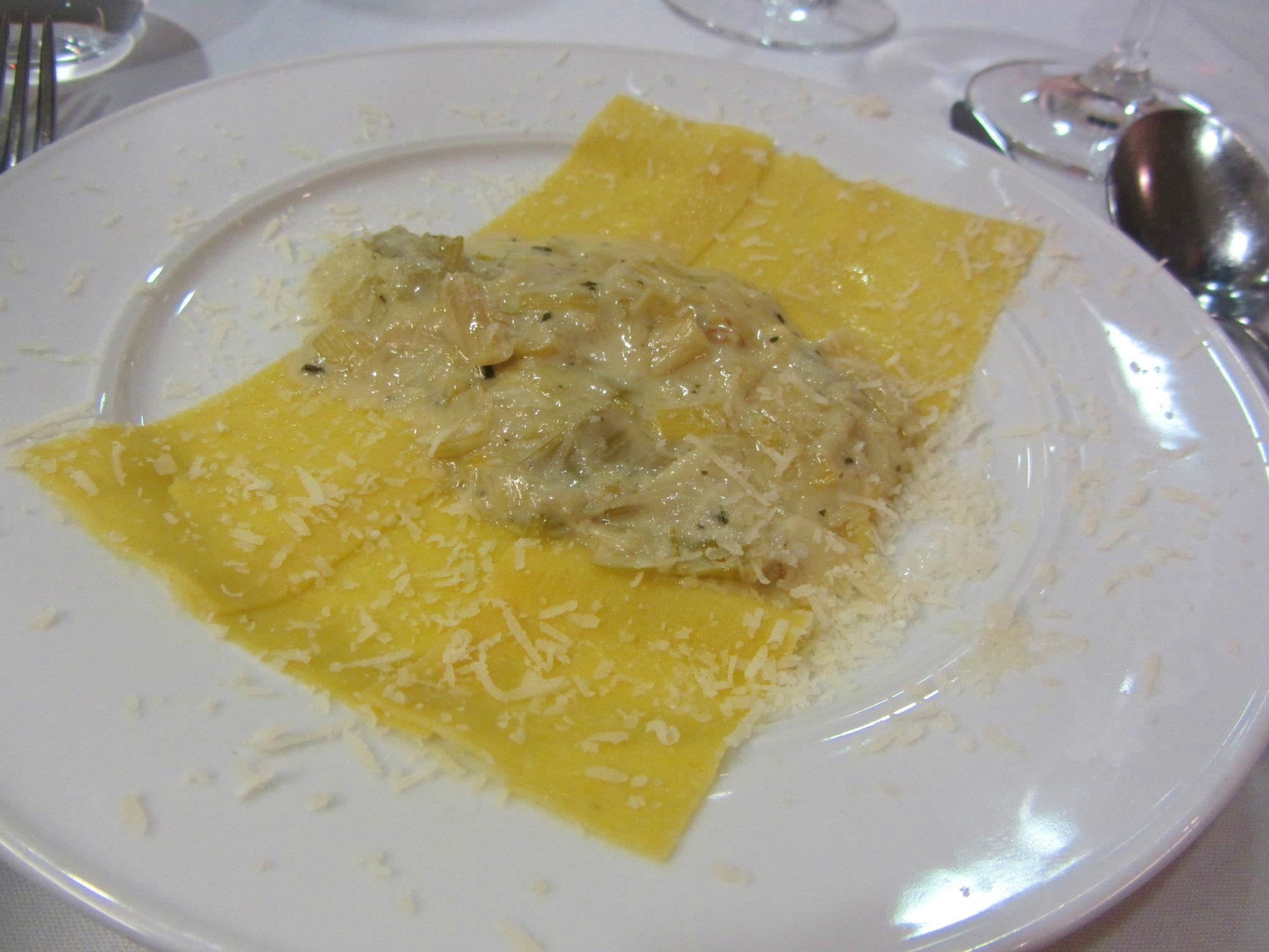 Stradette con Porri with melted leeks and Parmigiano-Reggiano