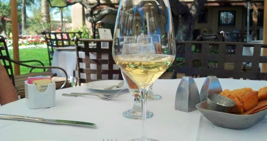 Albariño on the patio.