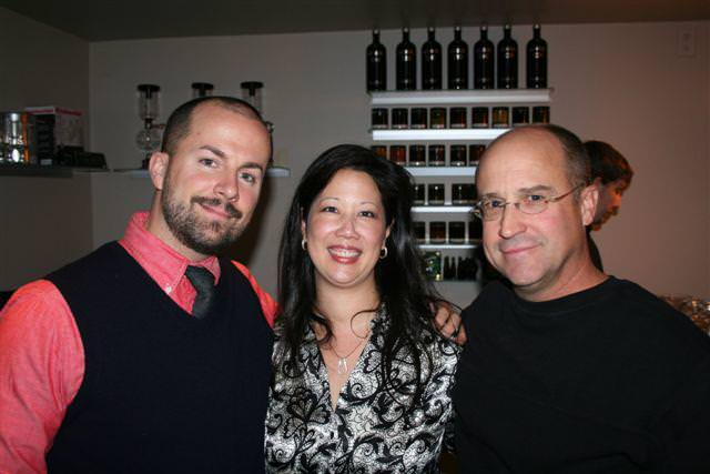 With Jim Meehan (left) and Chris Gall, the illustrator of the the PDT Cocktail Book
