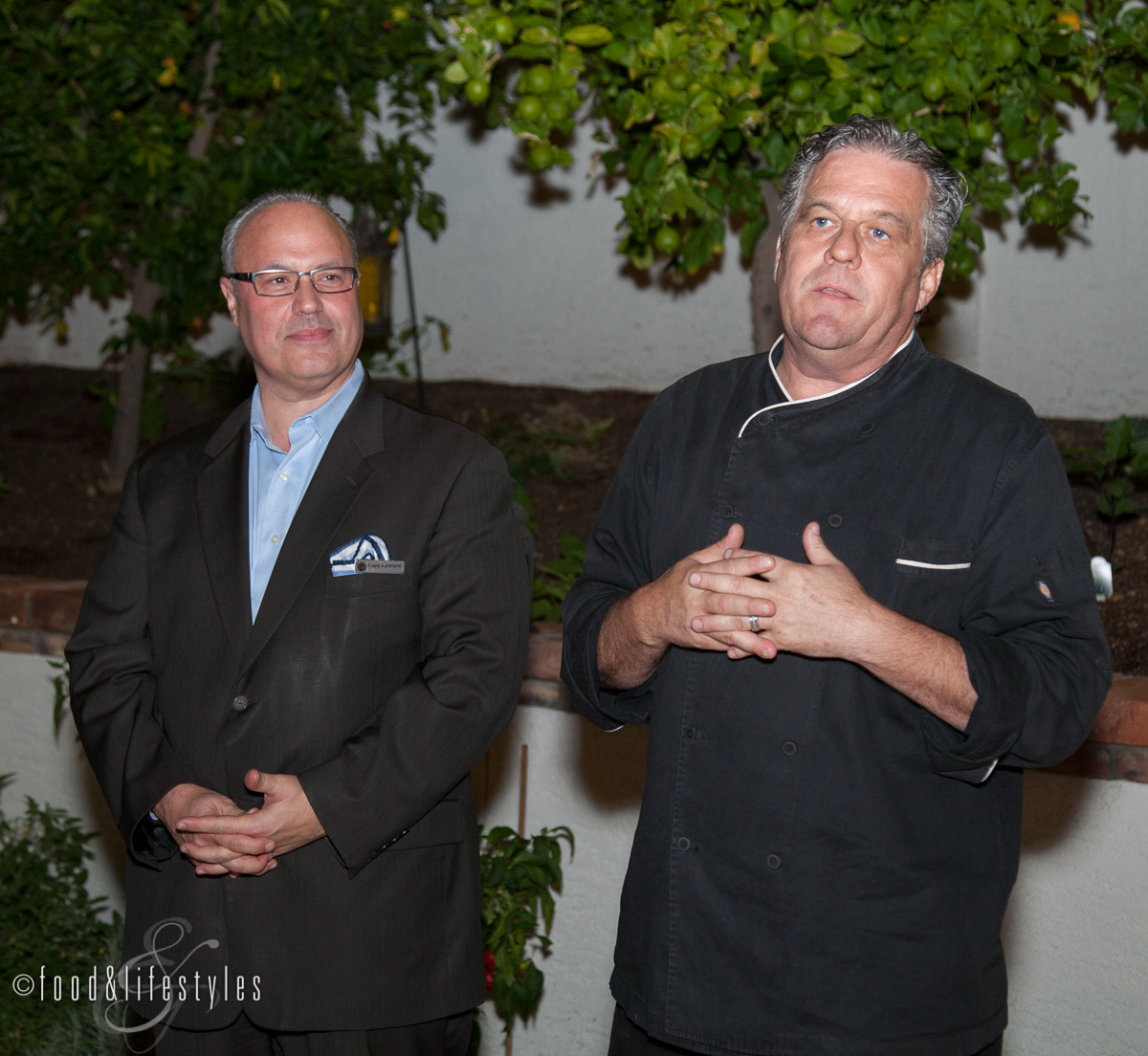 General Manager Frank Ashmore and Executive Chef Michael Cairns