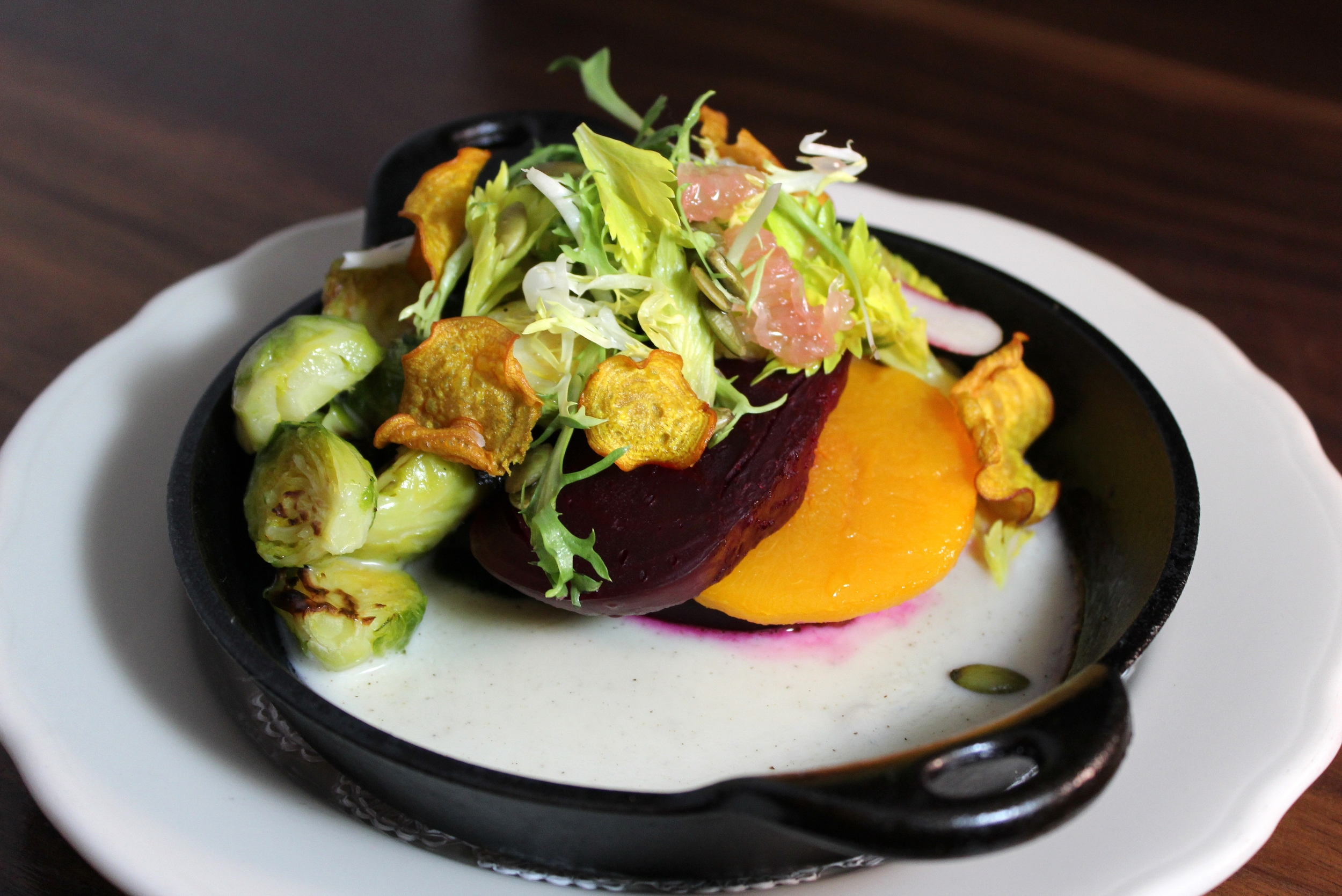 Beets, brussels sprouts, squash Southern Rail