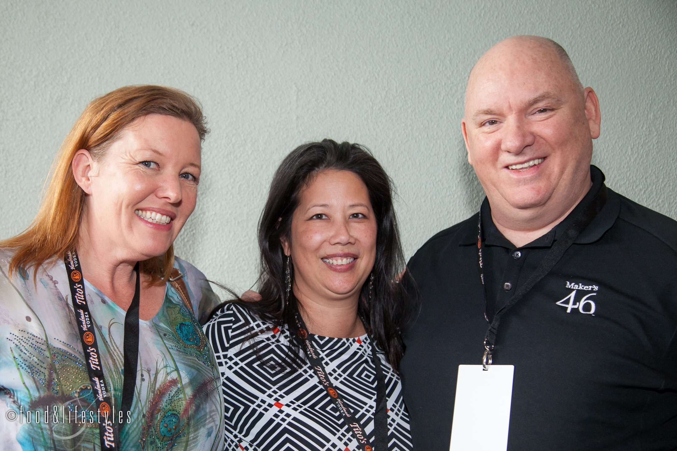 With author and consultant Natalie Bovis of  The Liquid Muse  and Jim Beam mixologist Bobby Gleason.