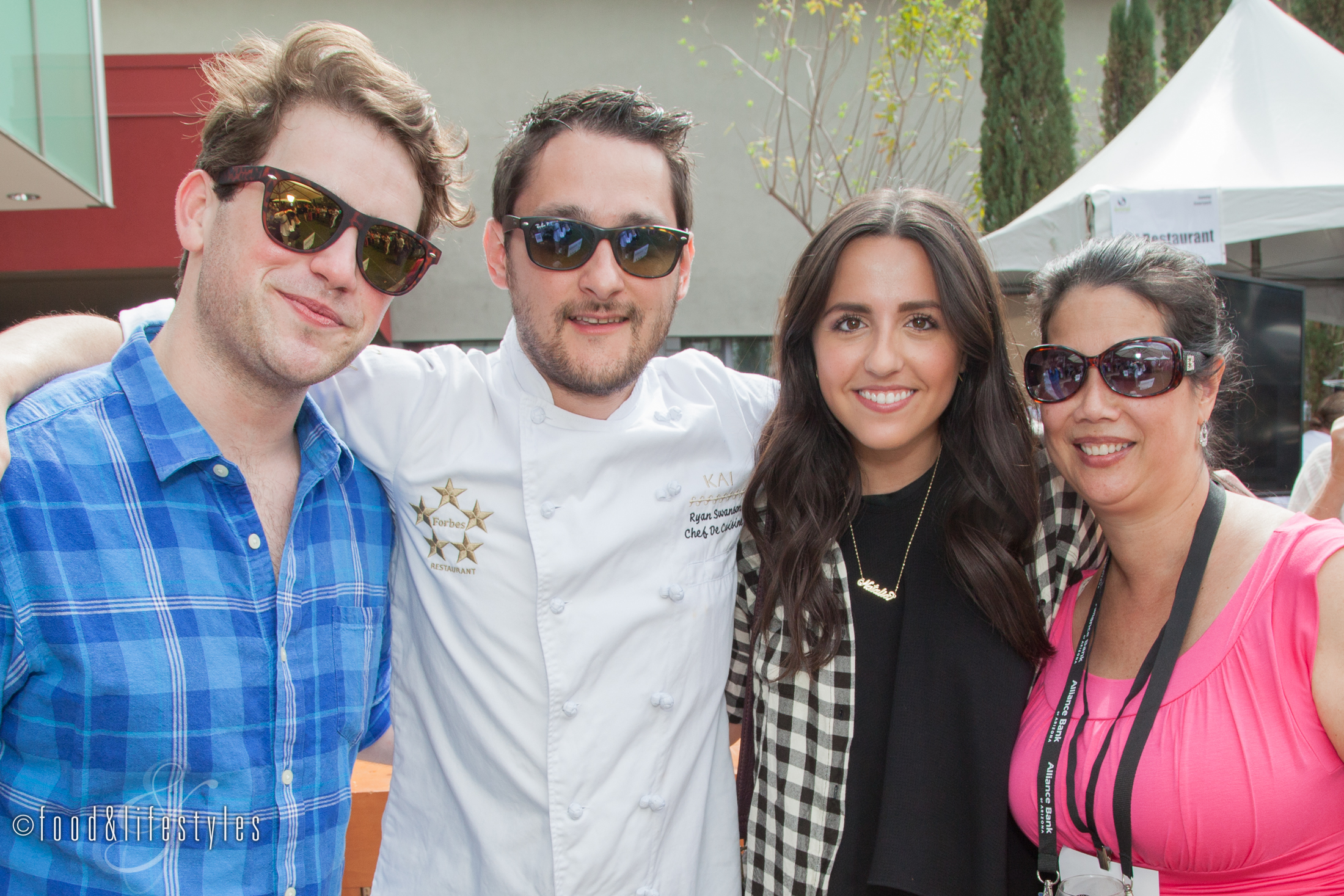 With Kevin Shirley, Chef Ryan, and Natalie Davis of Kai and the Sheraton Wild Horse Pass