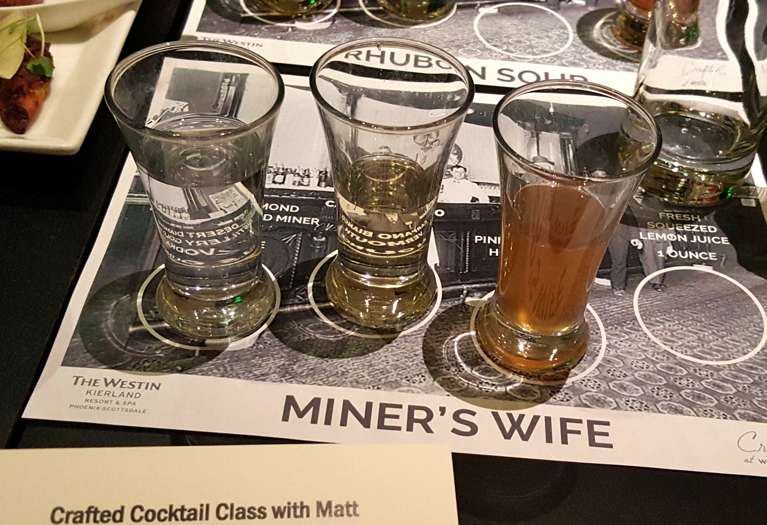 Miner's Wife cocktail