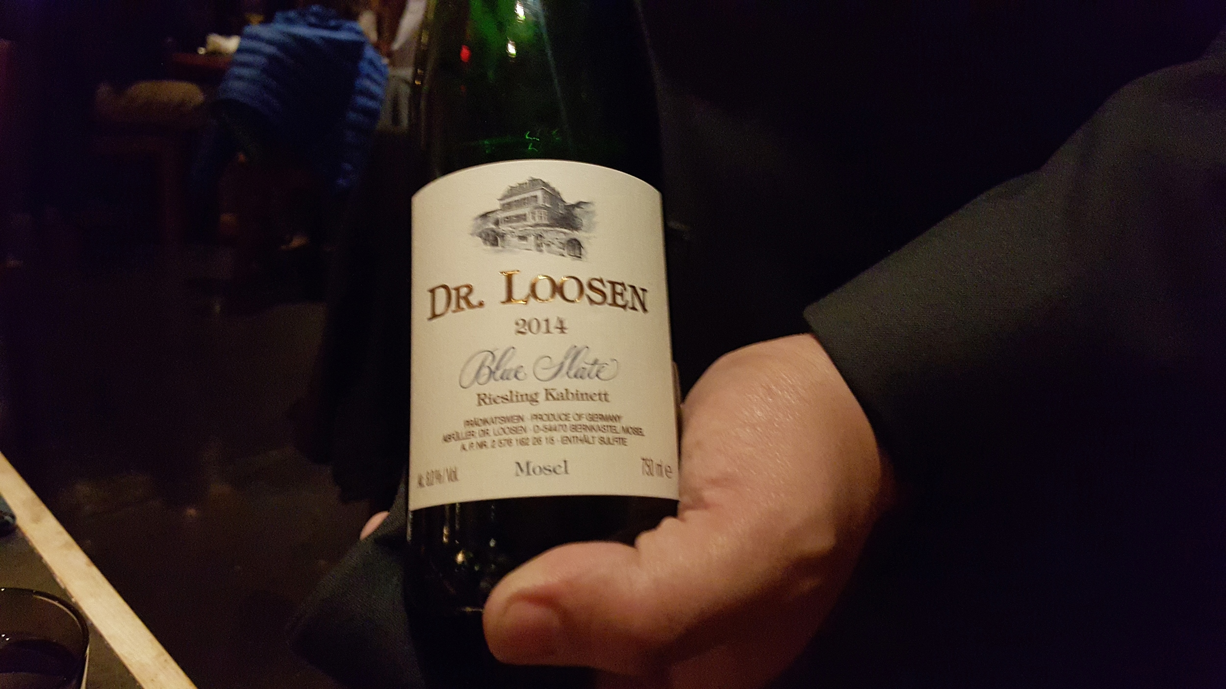 Dr. Loosen Blue Slate Estate Kabinett paired with smoked scallops