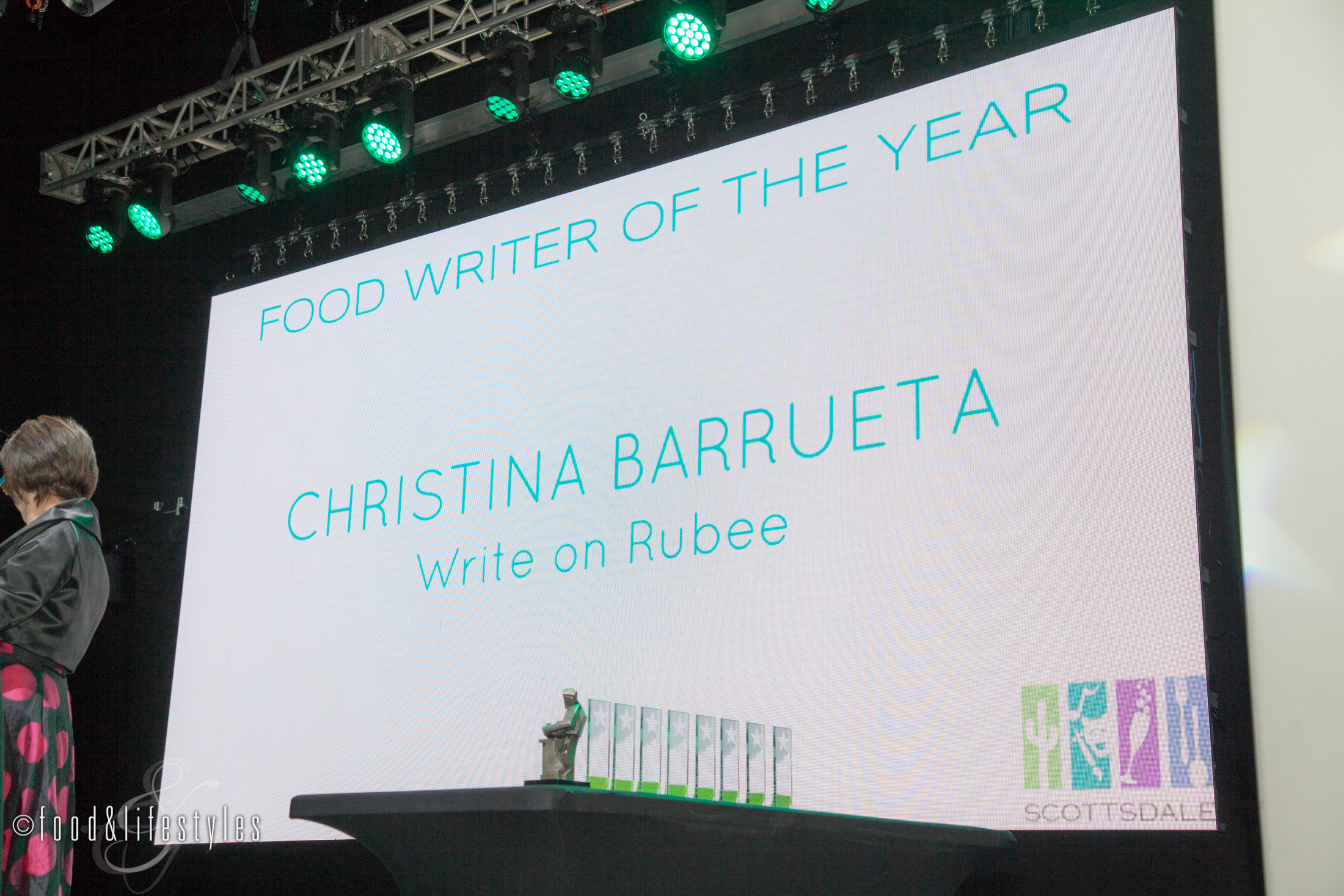 Write On Rubee Arizona Culinary Hall of Fame
