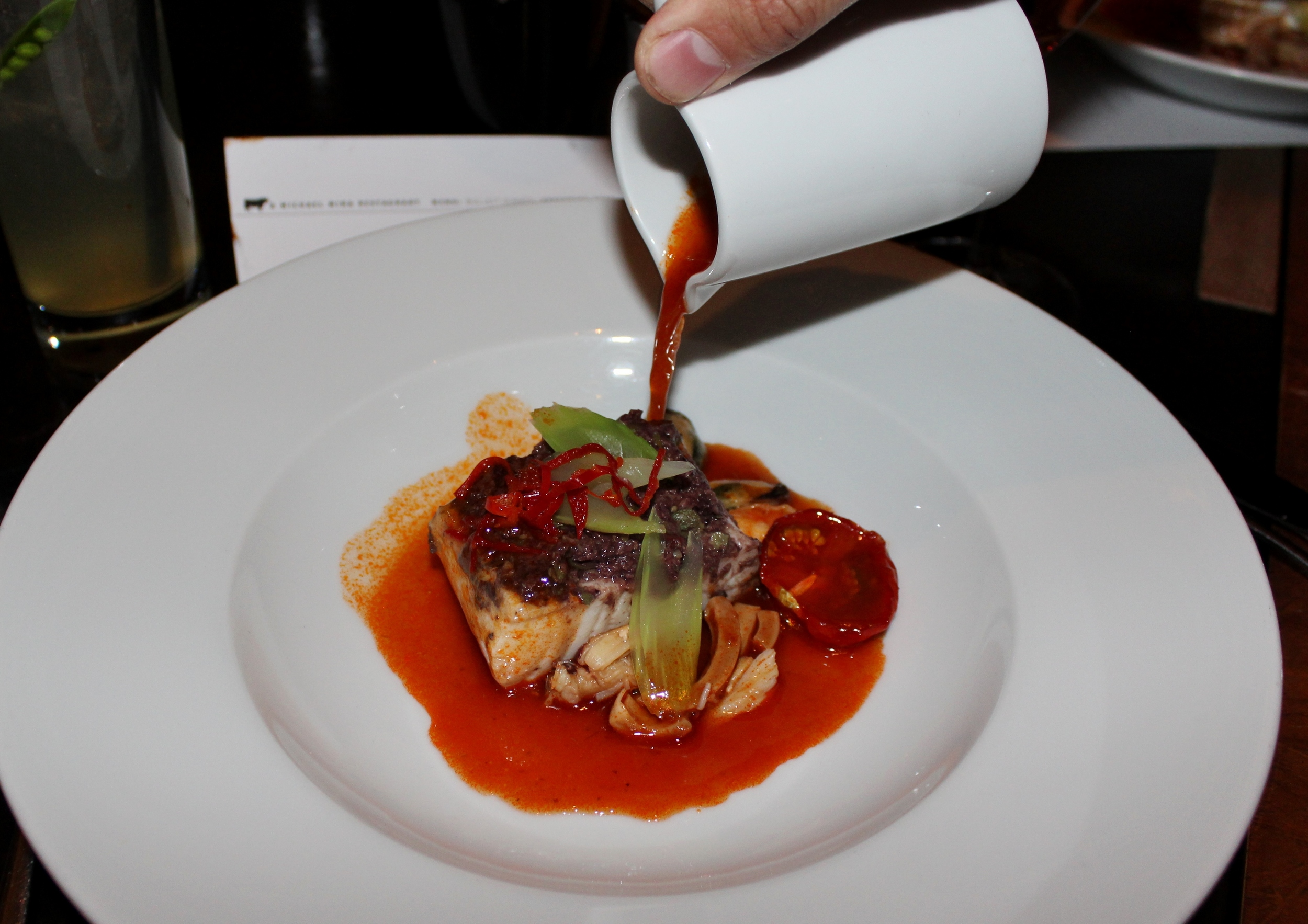 Cioppino with Dungeness crab, halibut, cuttlefish, and tapenade