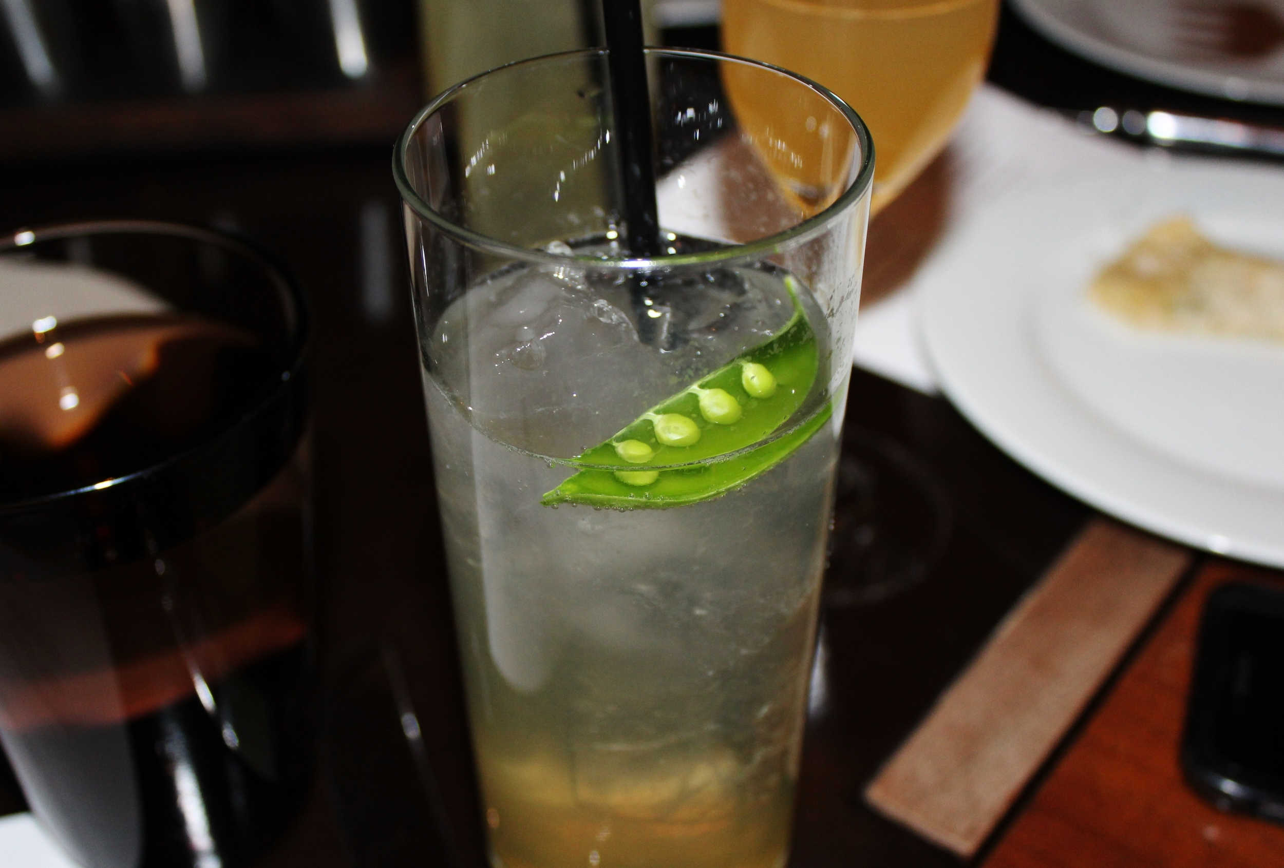 Sugar snap pea cocktail to pair with our vegetable starters