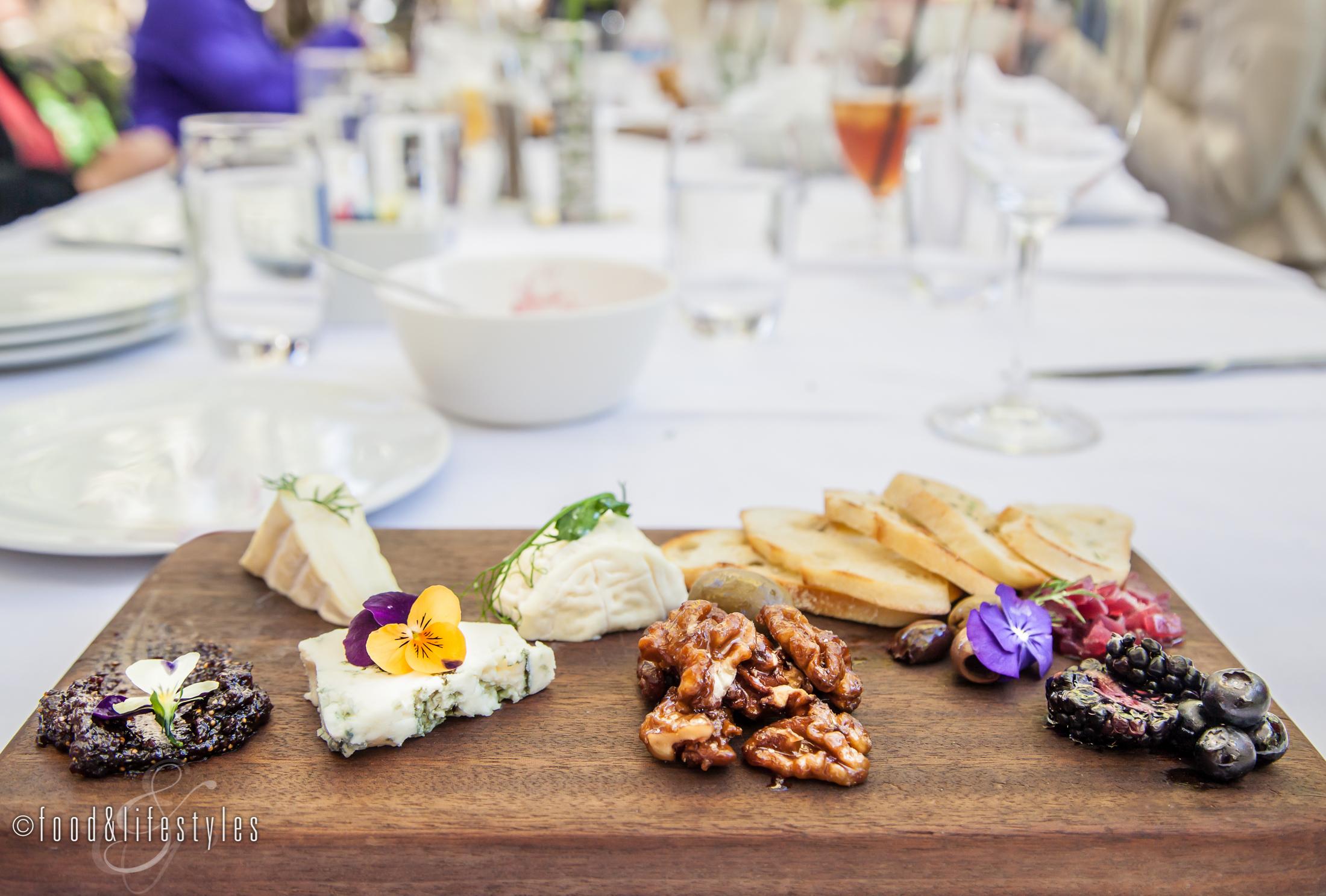 A wonderful cheese platter