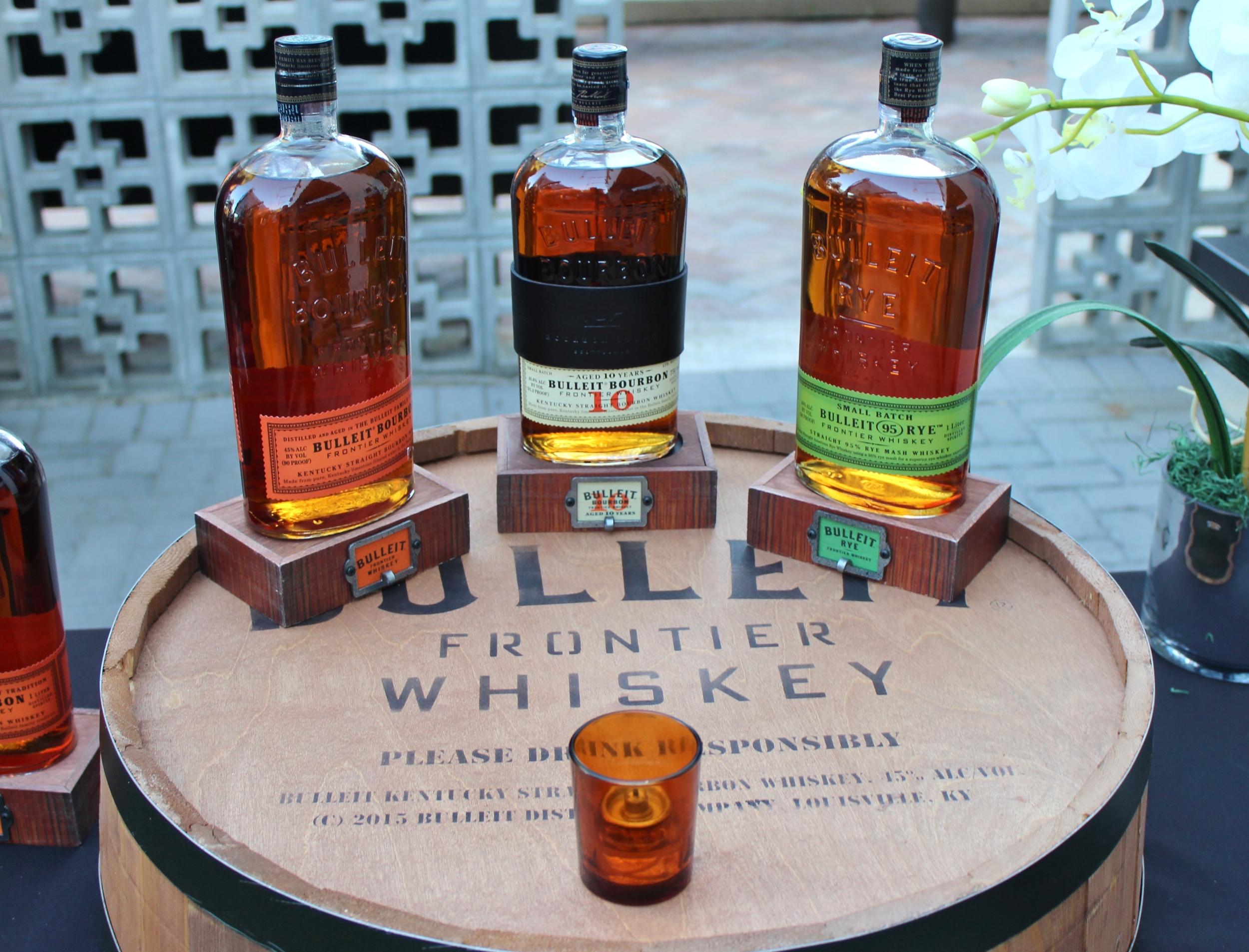 Bulleit Bourbon, 10-Year, and Rye