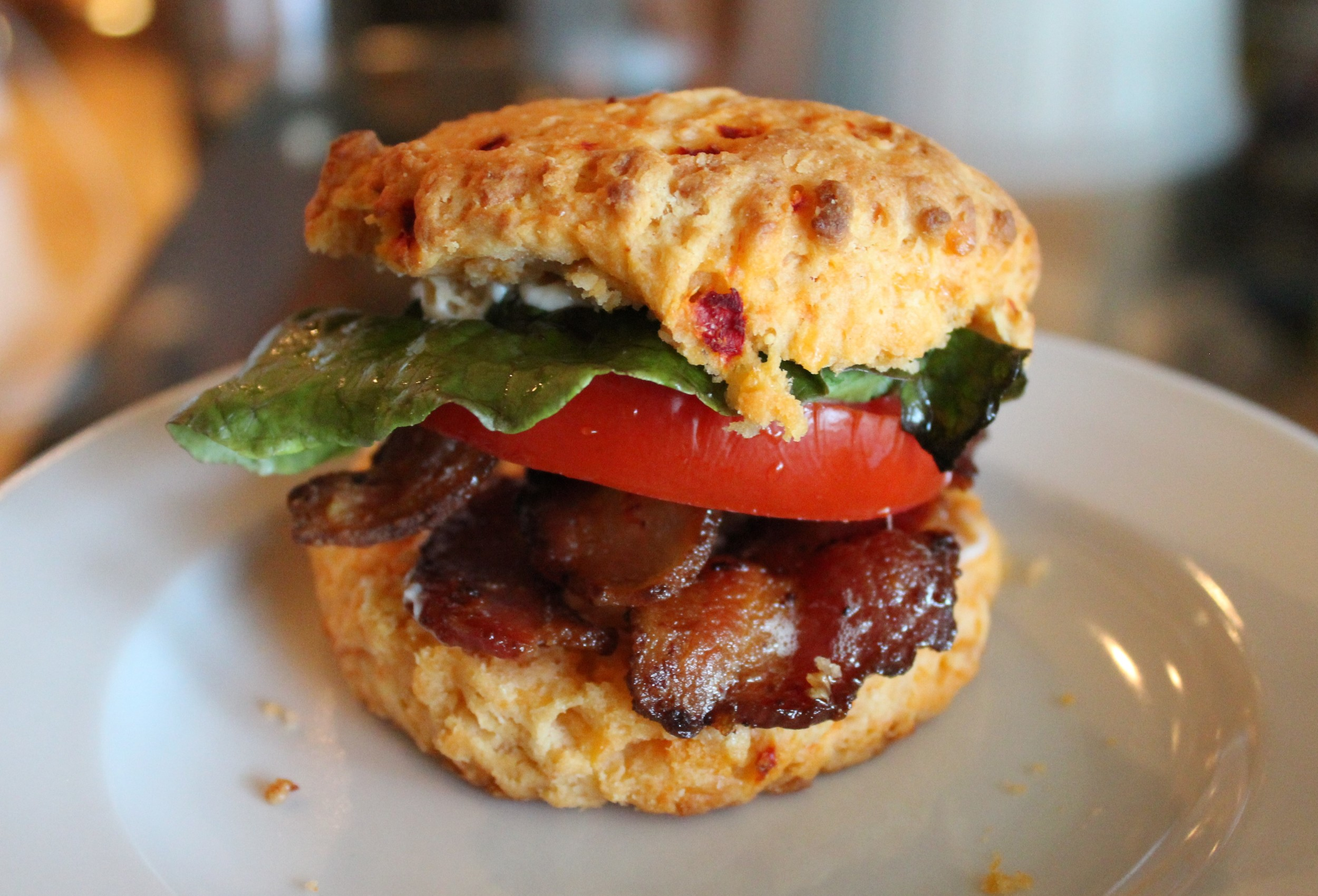 BLTs are great on the biscuits too