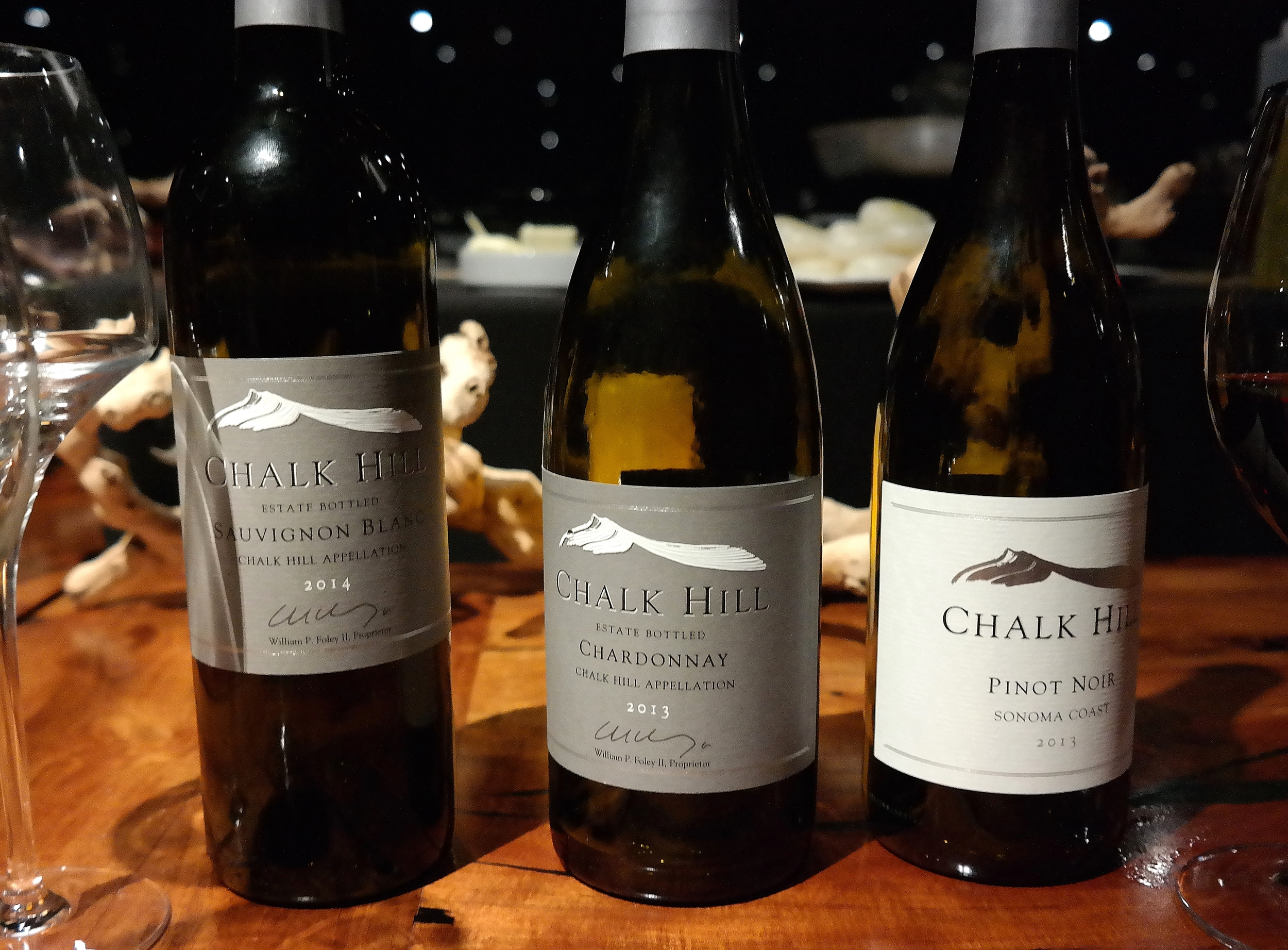 Our first three wine pairings